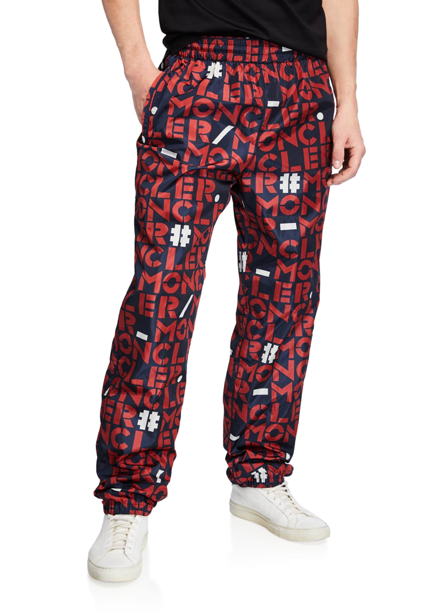 Moncler Genius Men's Block Logo Nylon Athletic Pants