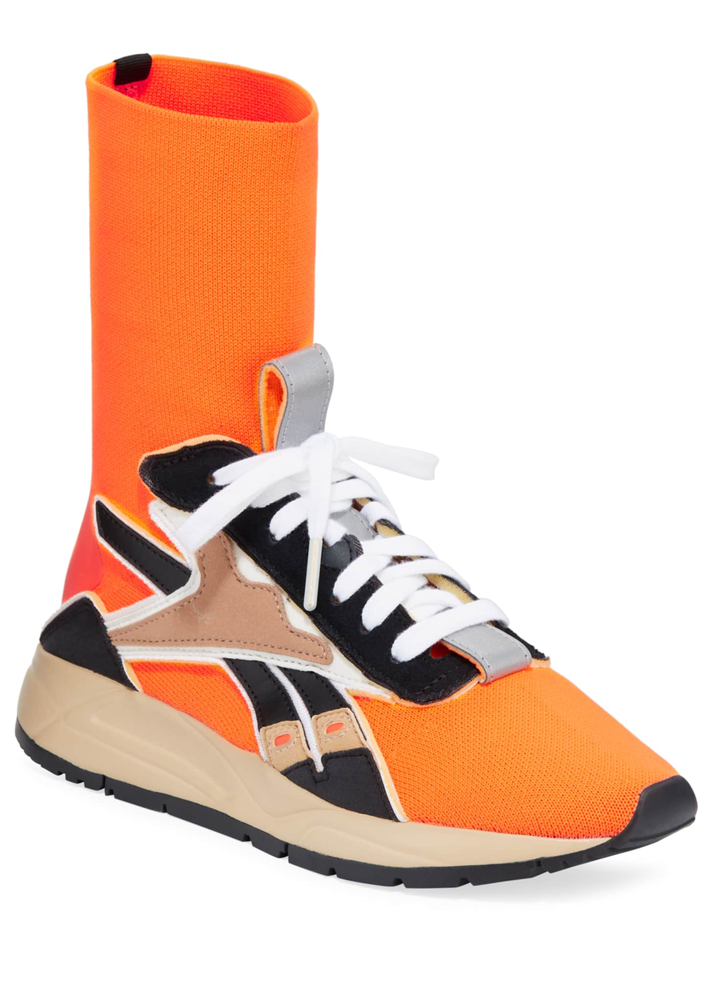 Reebok by Victoria Beckham Bolton Stretch-Knit Sock Sneakers,