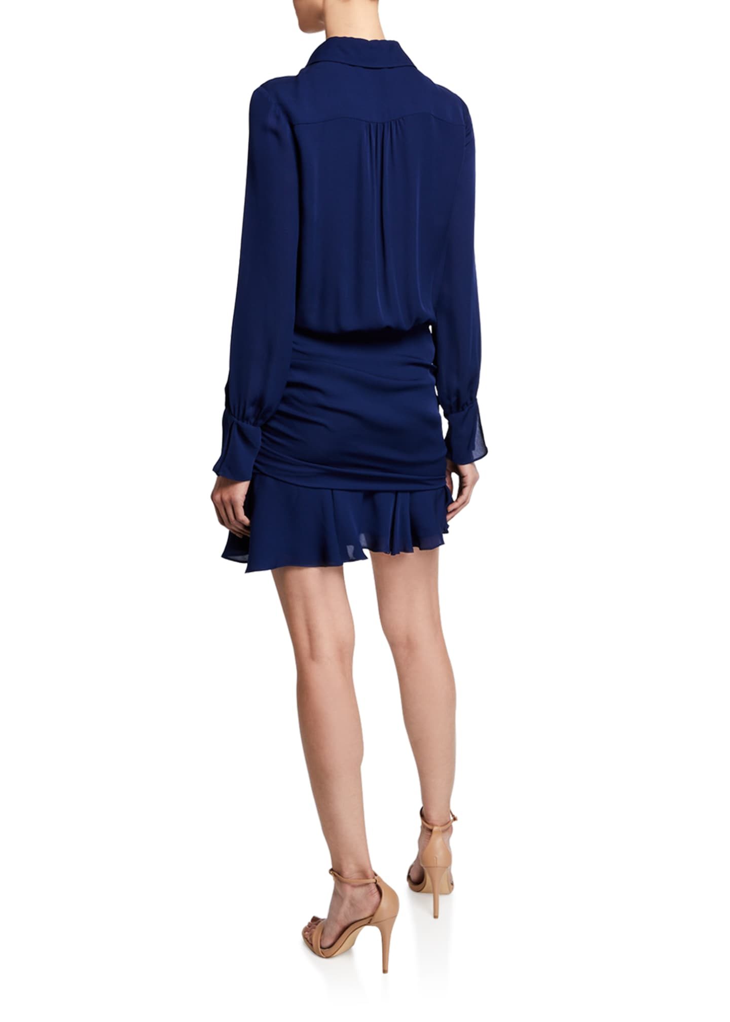 Image 2 of 2: Berkley Shirred Flounce Shirt Dress