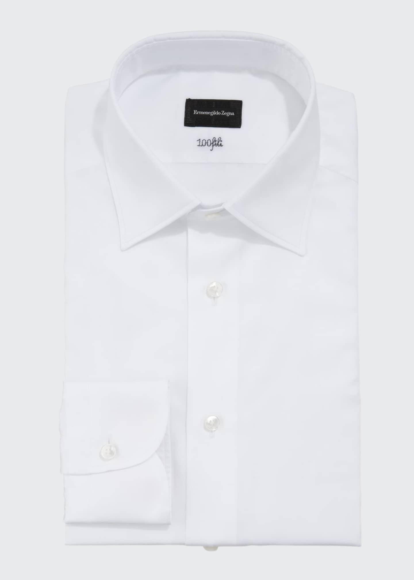 Ermenegildo Zegna Men's Solid Cento Fili Cotton Dress