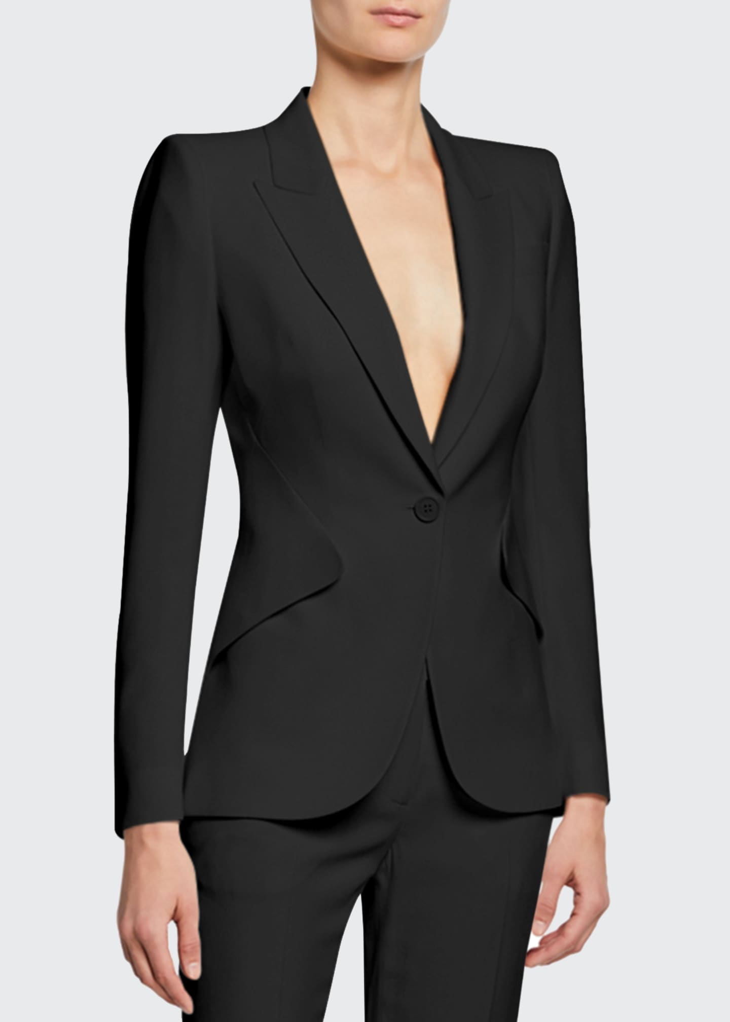 Image 1 of 5: Classic Double-Breasted Suiting Blazer