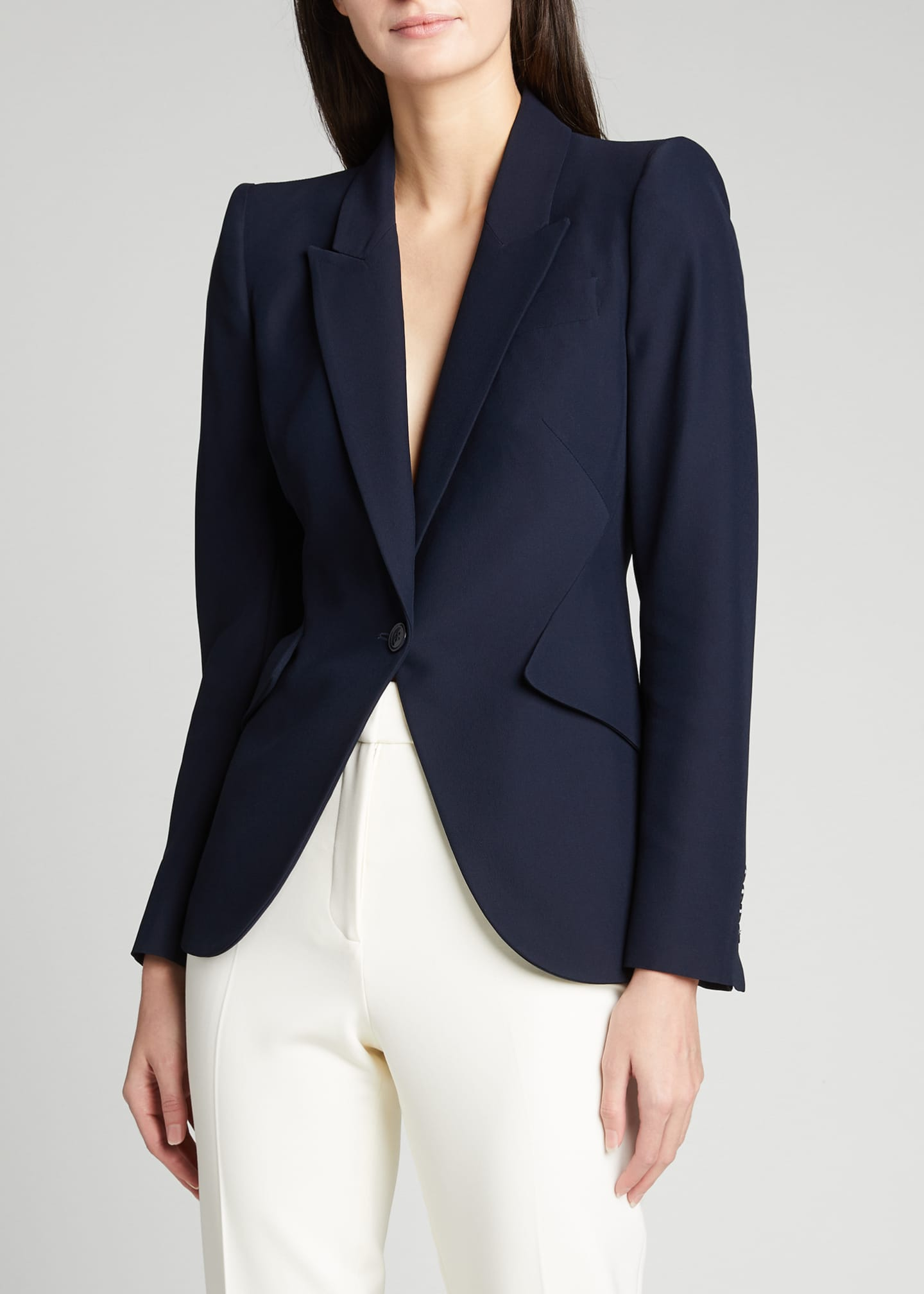 Image 3 of 5: Classic Double-Breasted Suiting Blazer
