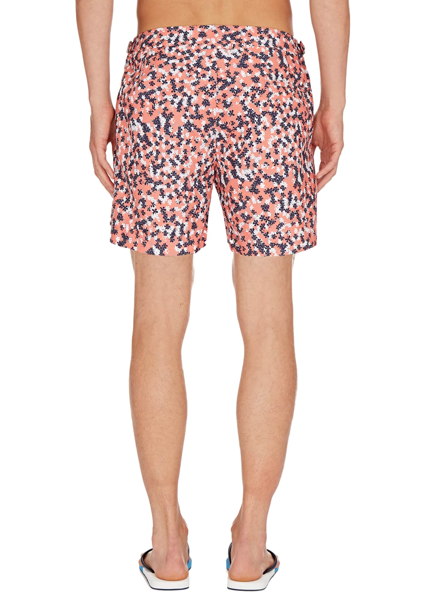 Image 2 of 2: Men's Bulldog Ninfea Graphic Swim Trunks