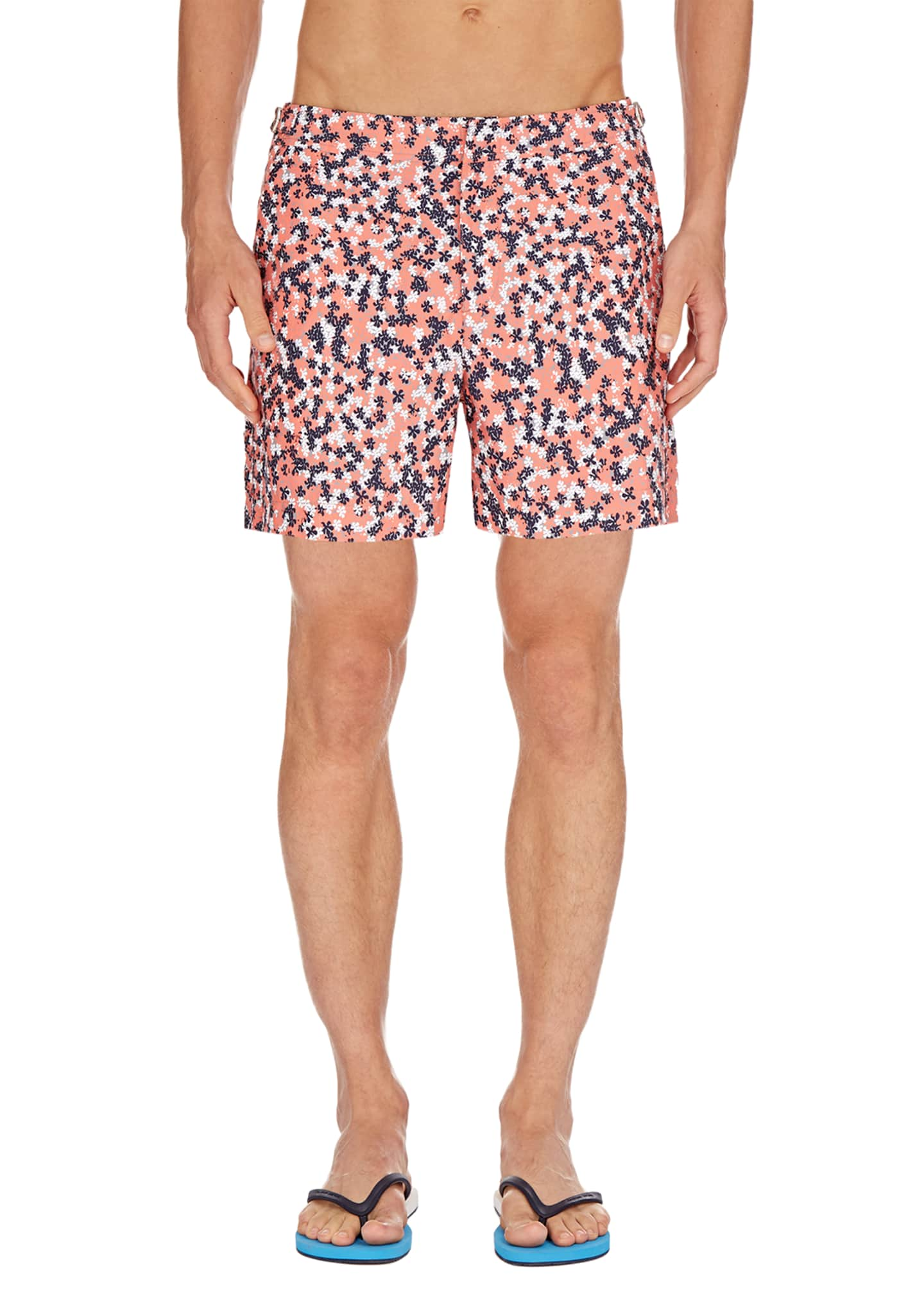 Image 1 of 2: Men's Bulldog Ninfea Graphic Swim Trunks