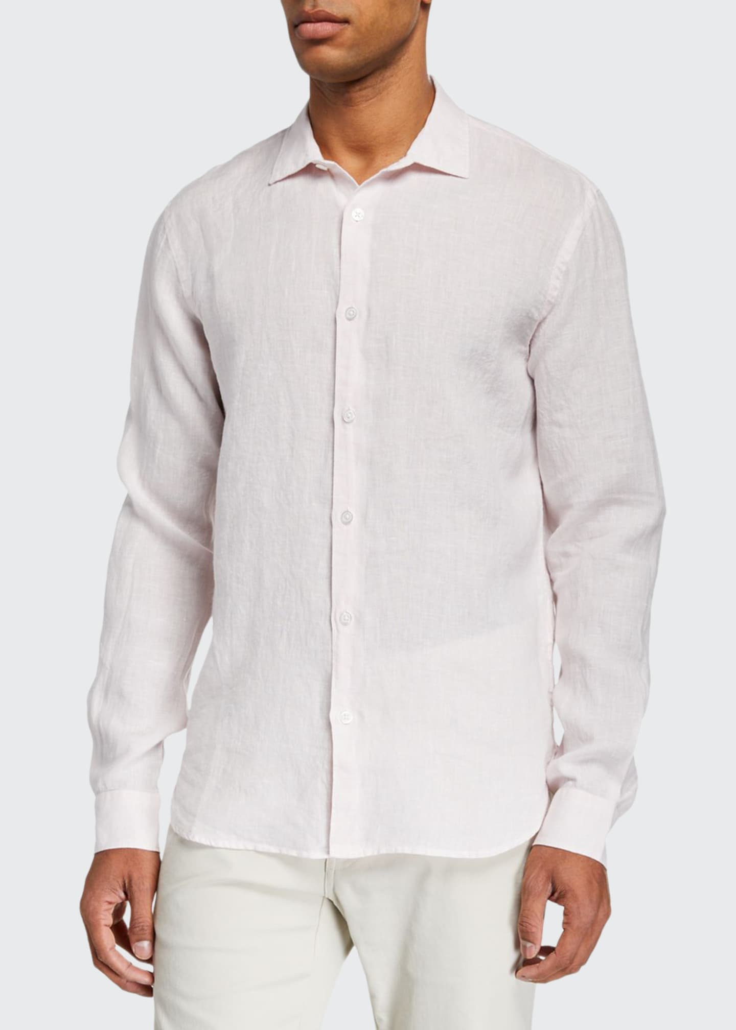 Orlebar Brown Men's Giles Linen Sport Shirt