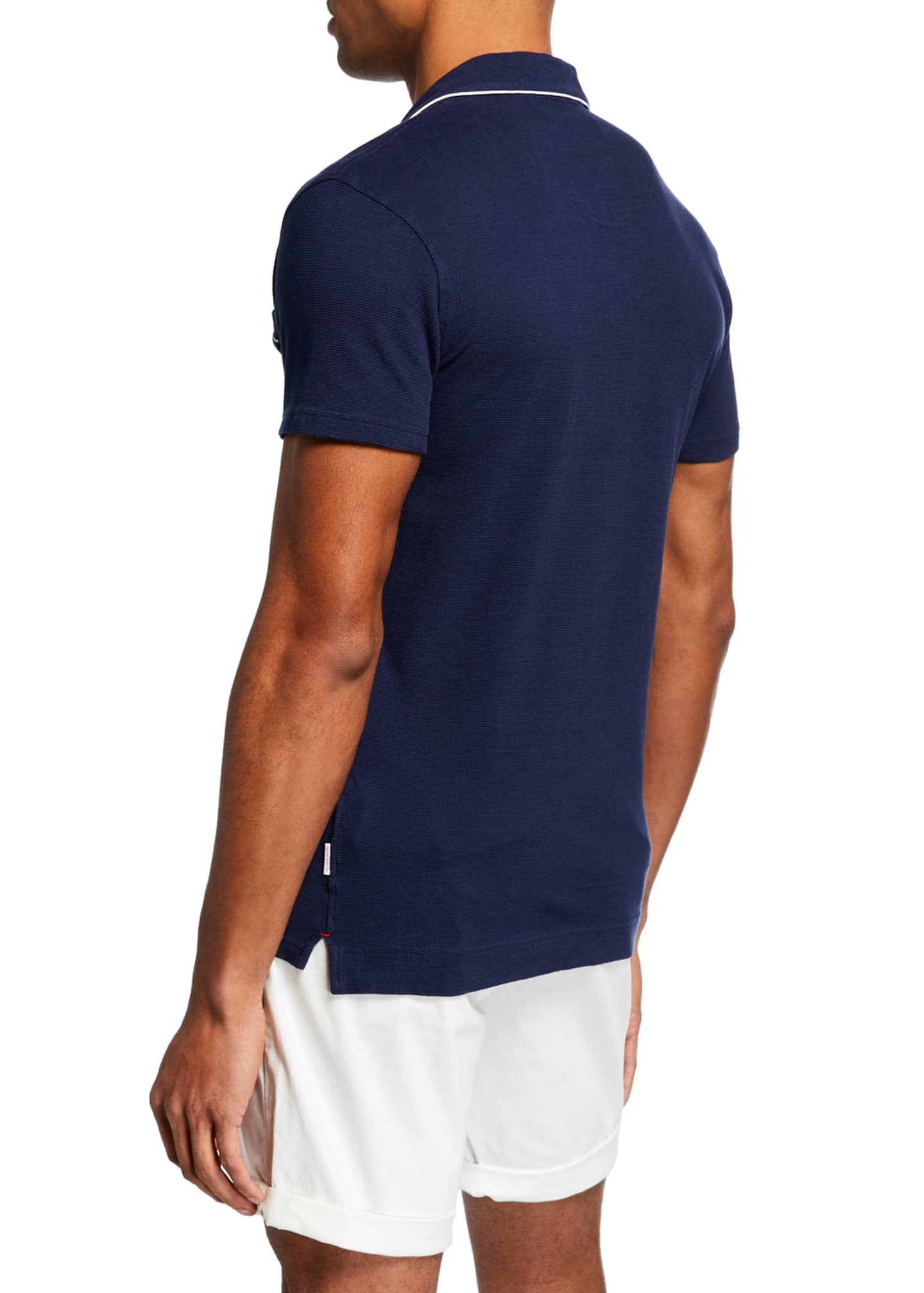 Image 2 of 3: Men's Donald Polo Shirt w/ Contrast Piping