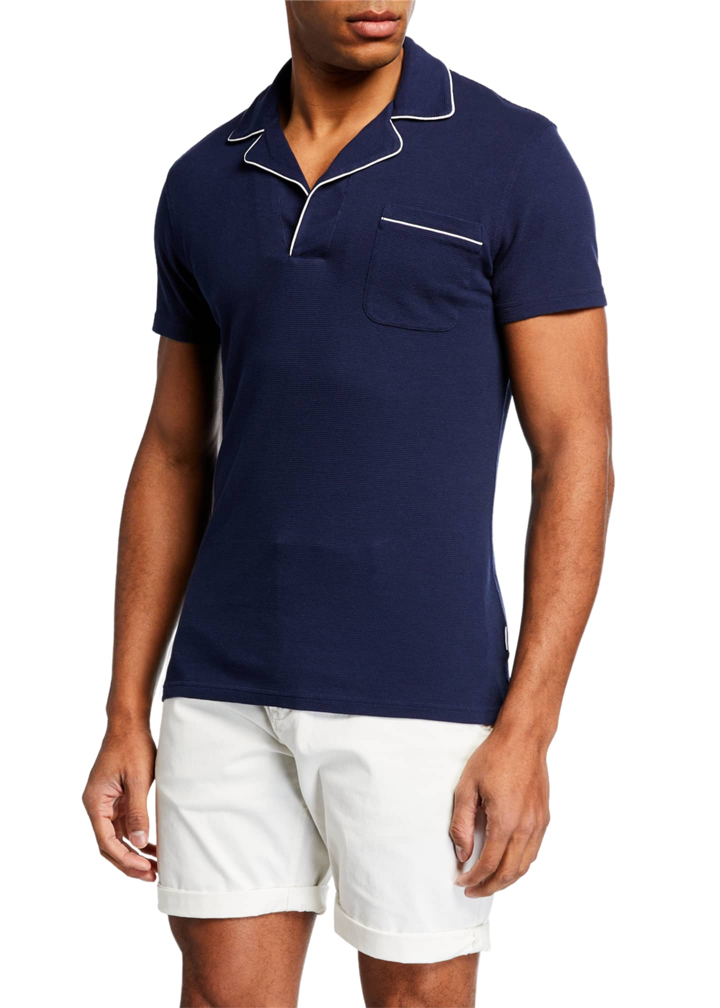 Image 1 of 3: Men's Donald Polo Shirt w/ Contrast Piping