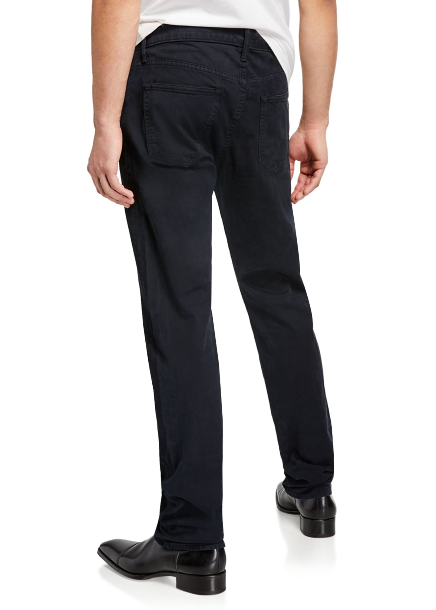 Image 2 of 3: Men's Dark-Wash Straight-Leg Jeans