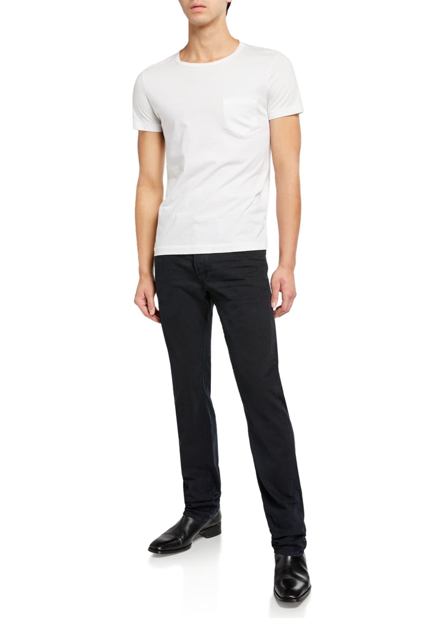 Image 3 of 3: Men's Dark-Wash Straight-Leg Jeans