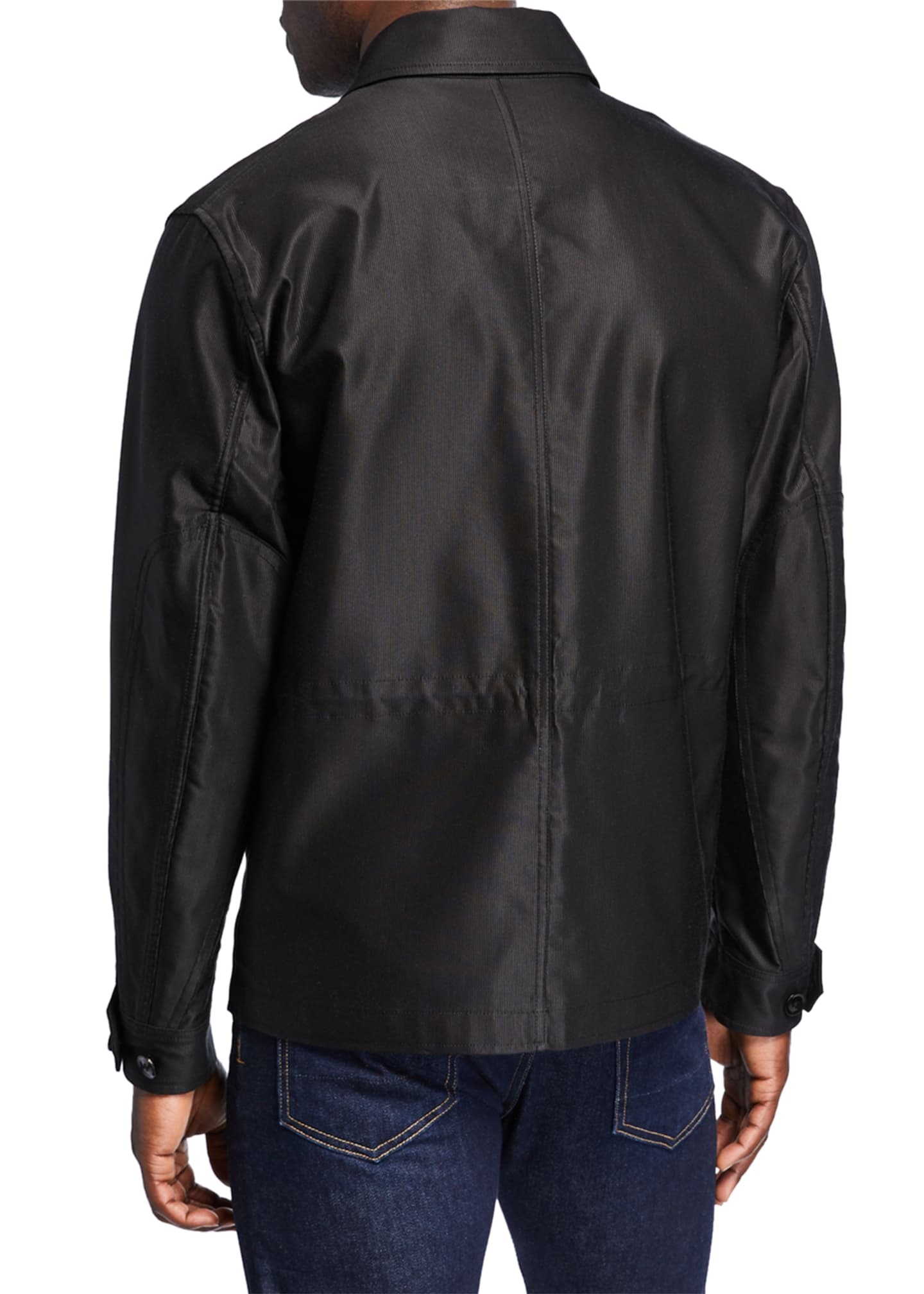 Image 3 of 3: Men's Sateen Jacket w/ Front Pockets