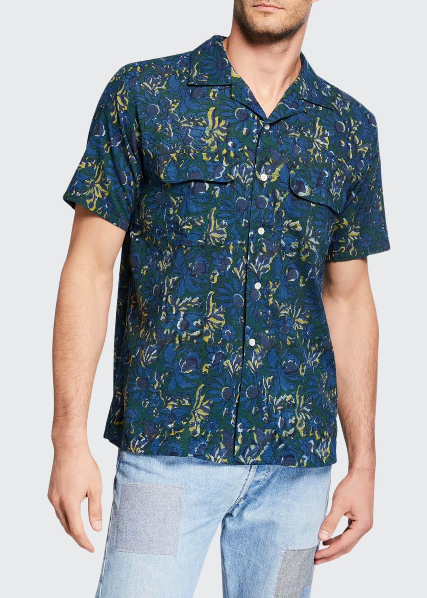 Beams Plus Men's Madras Woven Sport Shirt