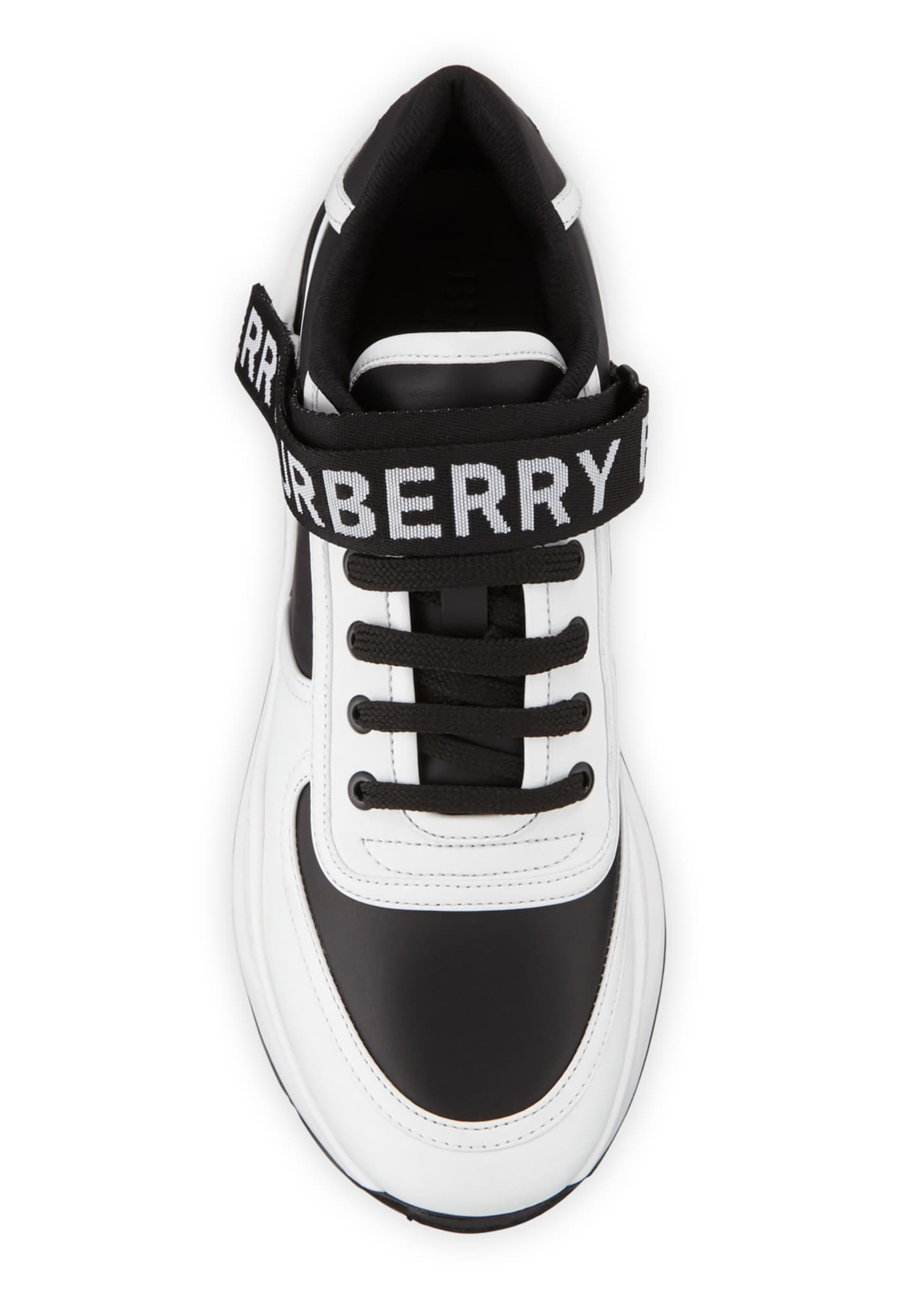 Image 2 of 3: Men's Ronnie Logo-Strap Leather Sneakers