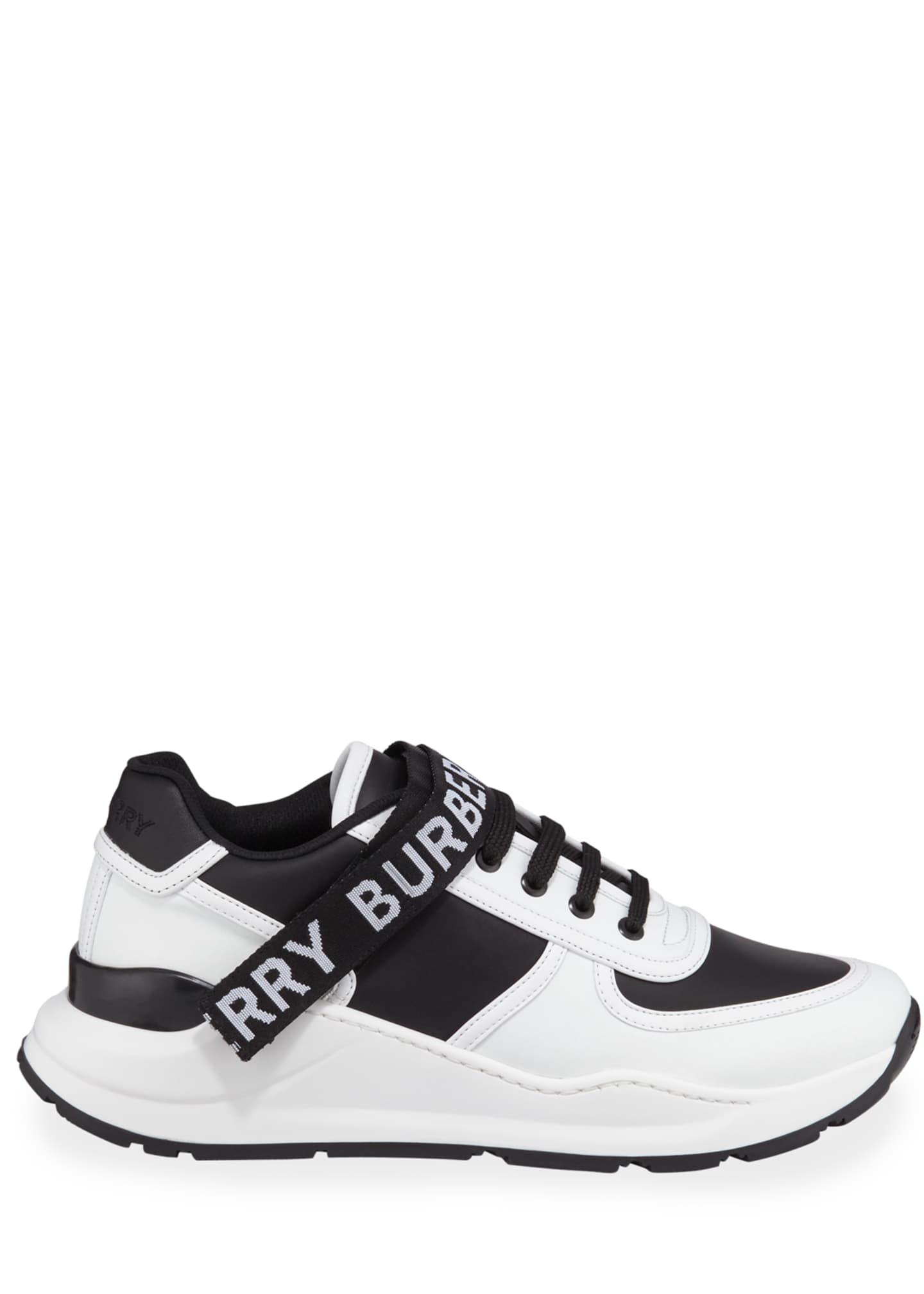Image 3 of 3: Men's Ronnie Logo-Strap Leather Sneakers