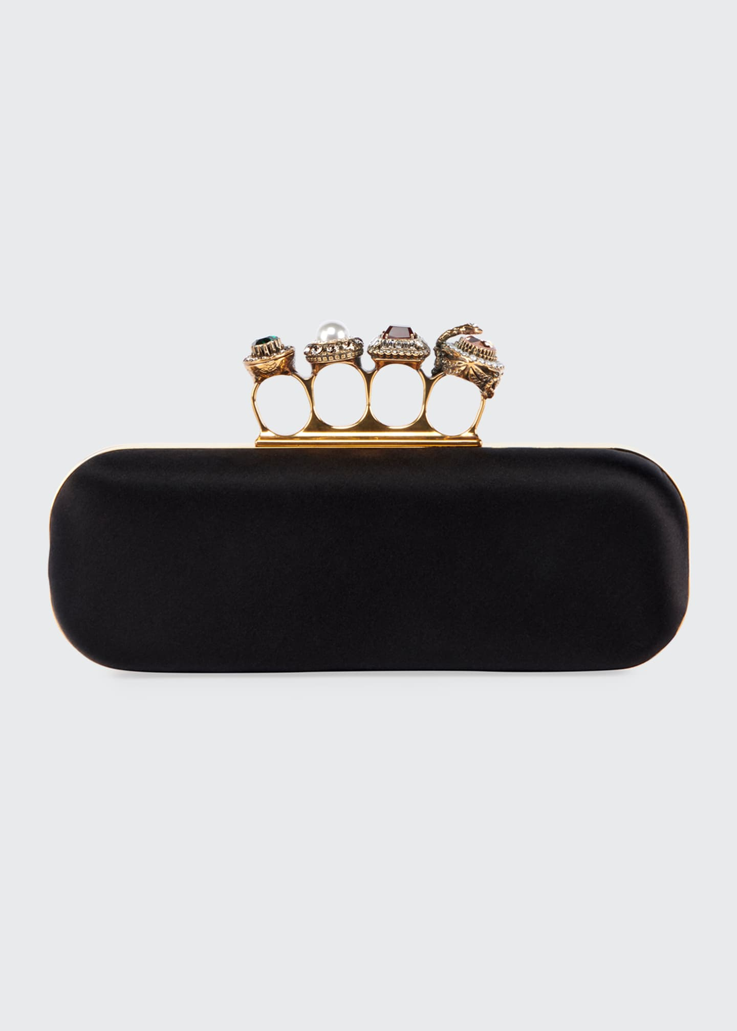 Image 1 of 2: Jeweled Four-Ring Clutch Bag