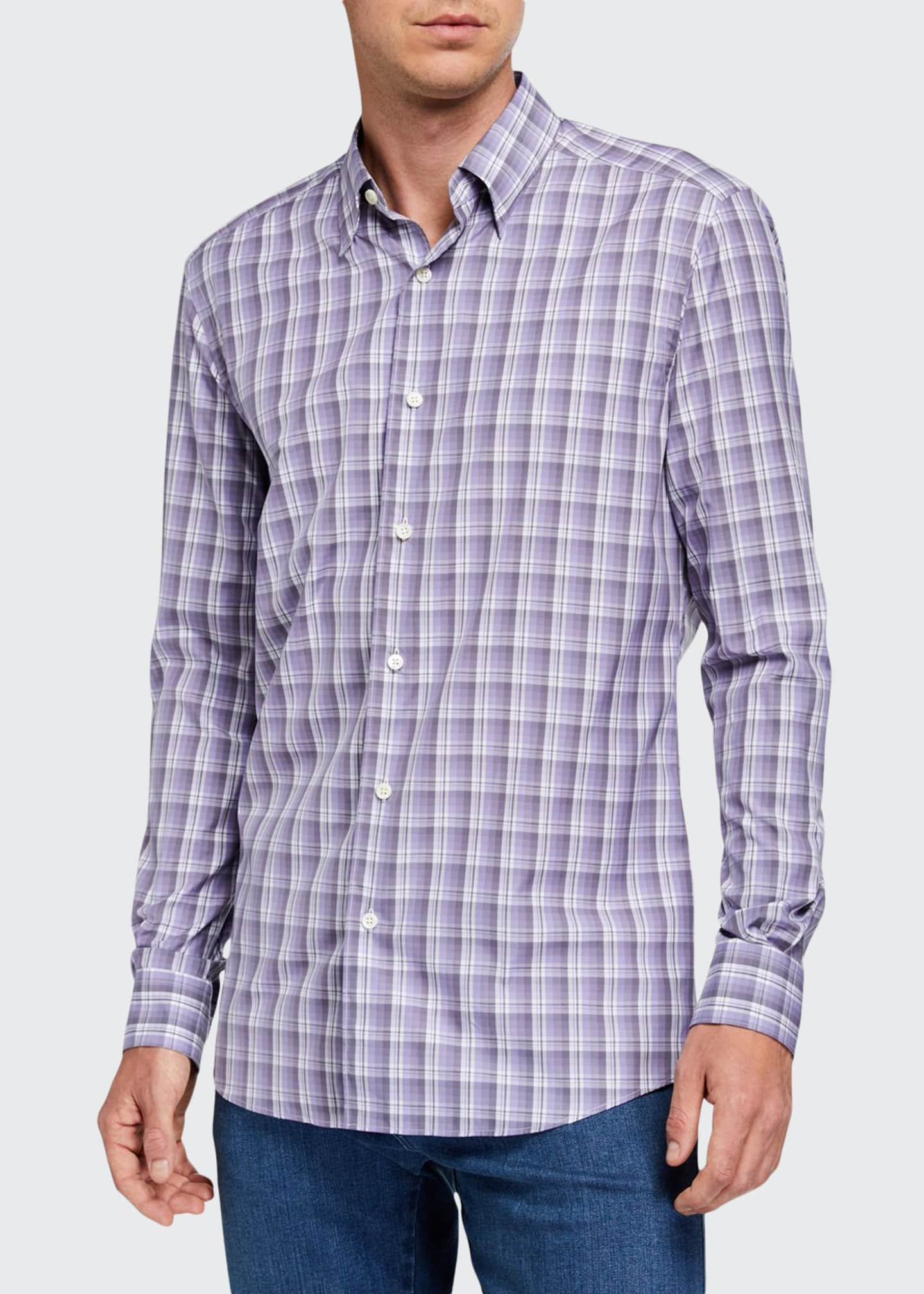Ermenegildo Zegna Men's Cento Quaranta Plaid Sport Shirt