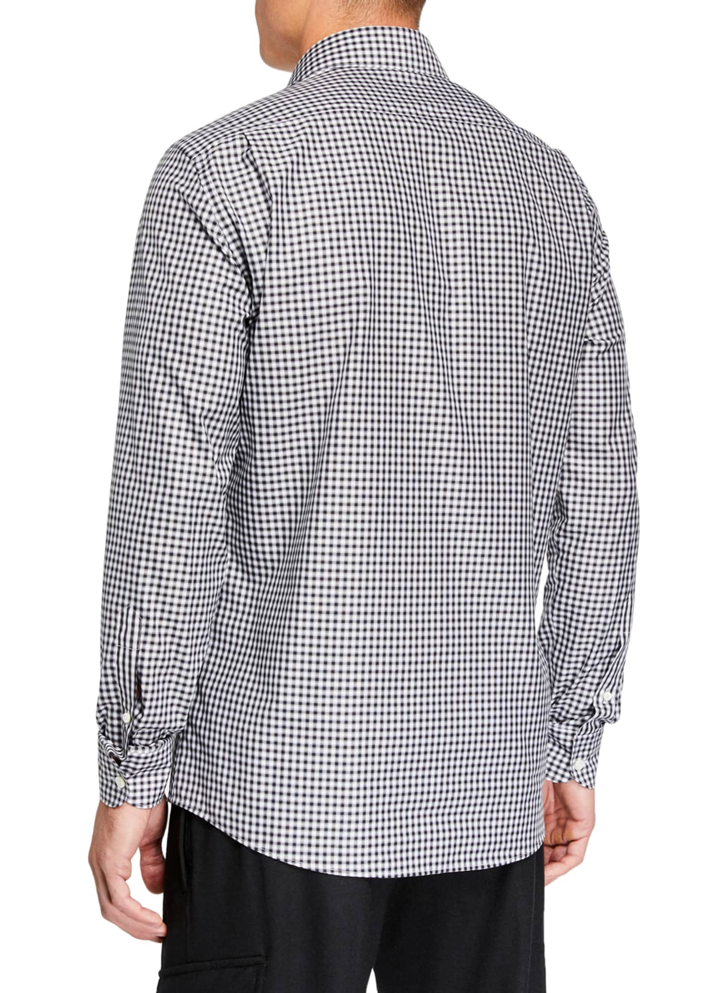 Image 2 of 3: Men's Gingham Traveler Regular-Fit Sport Shirt