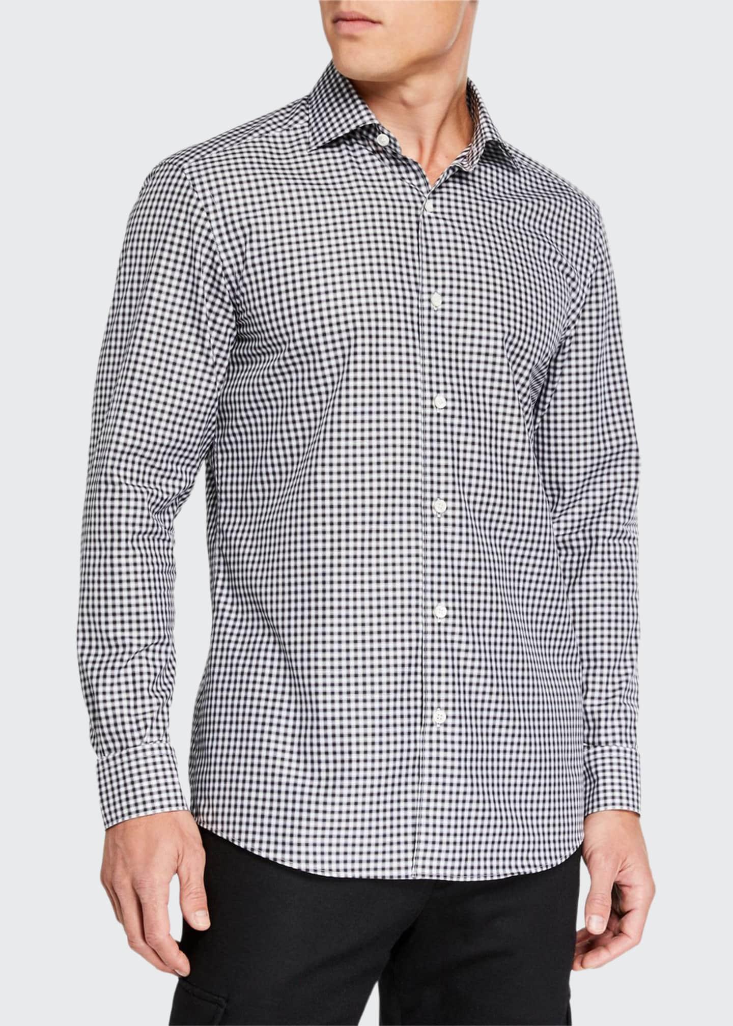 Ermenegildo Zegna Men's Gingham Traveler Sport Shirt