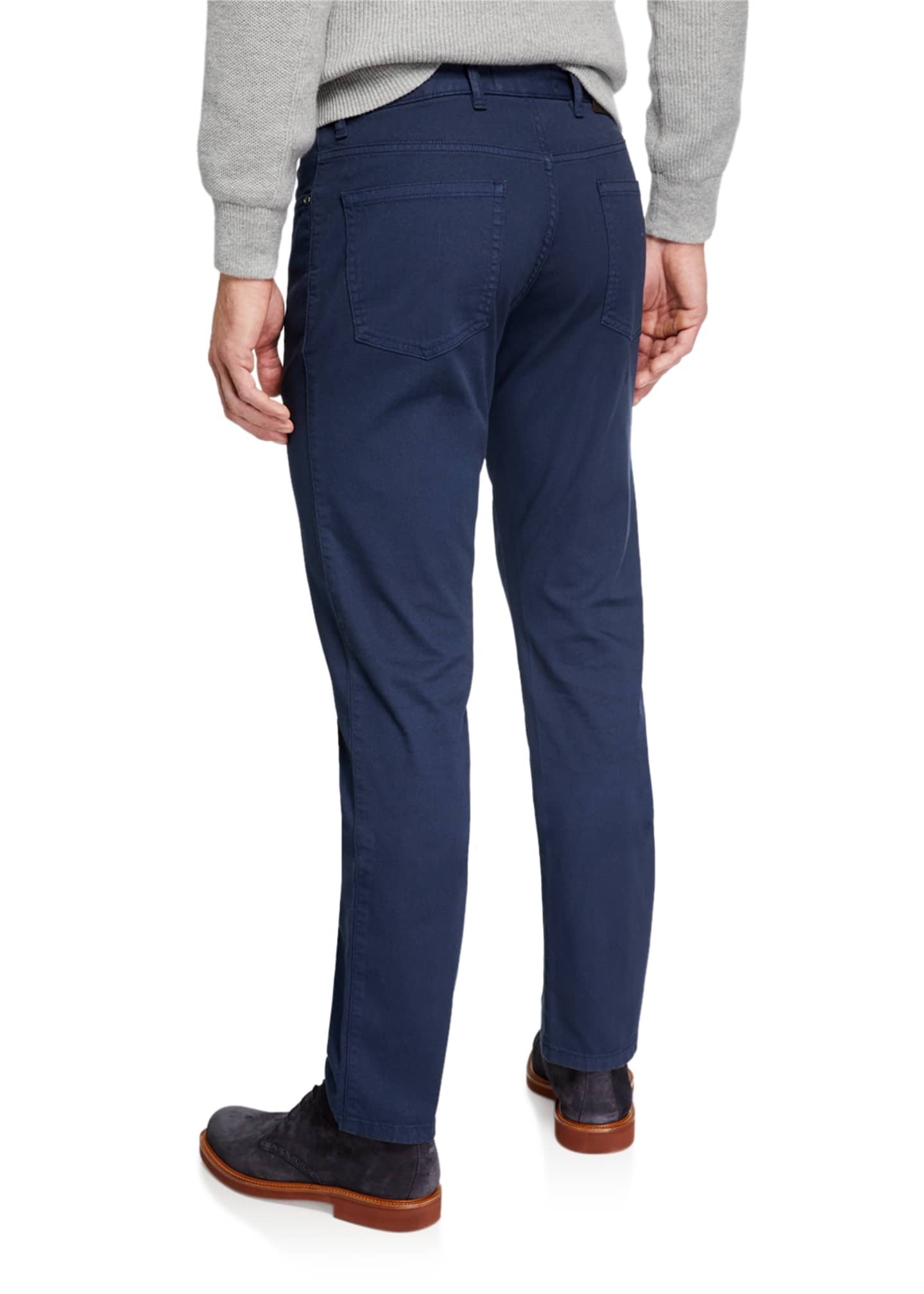Image 2 of 3: Men's 5-Pocket Twill Regular-Fit Pants