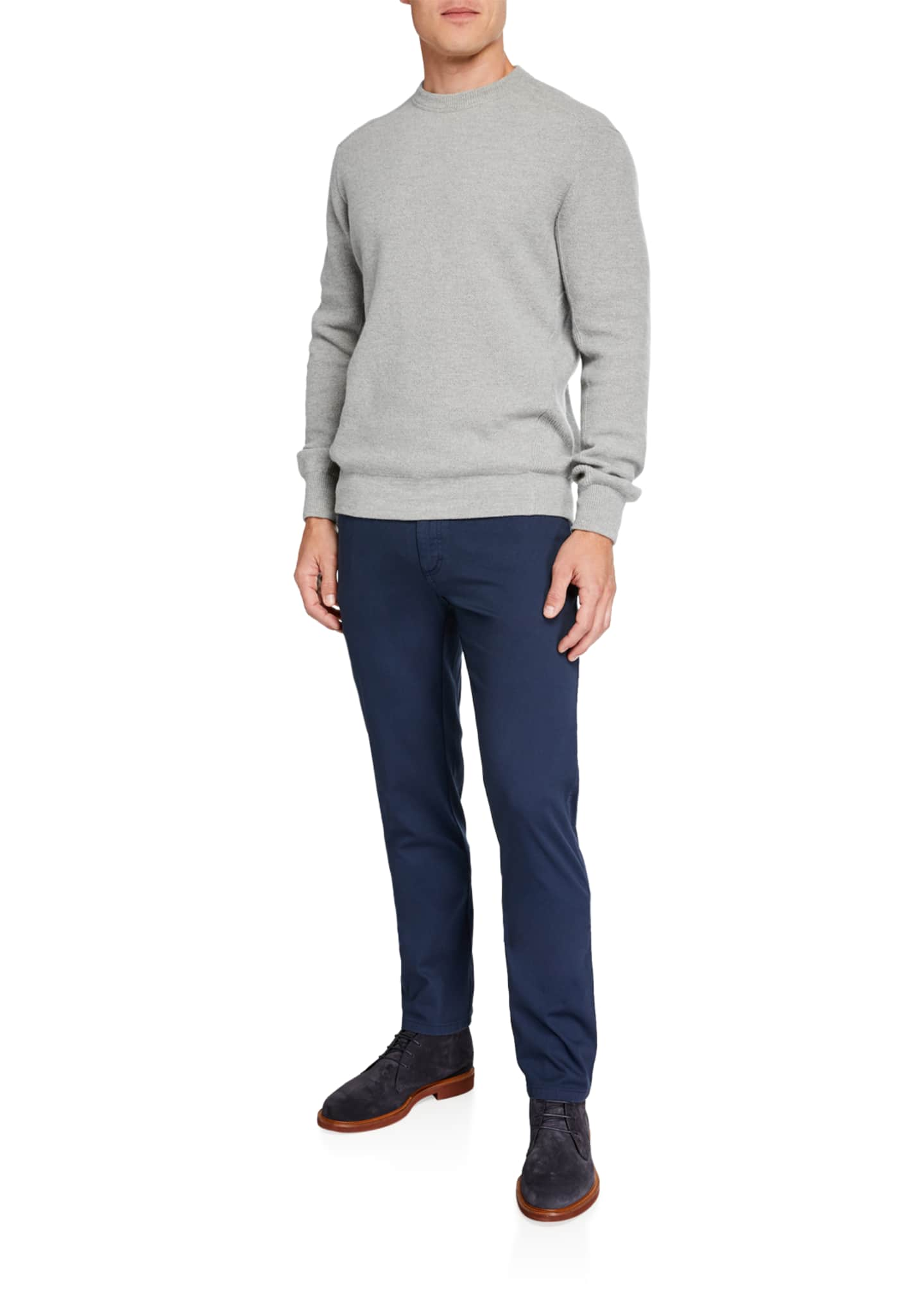 Image 3 of 3: Men's 5-Pocket Twill Regular-Fit Pants