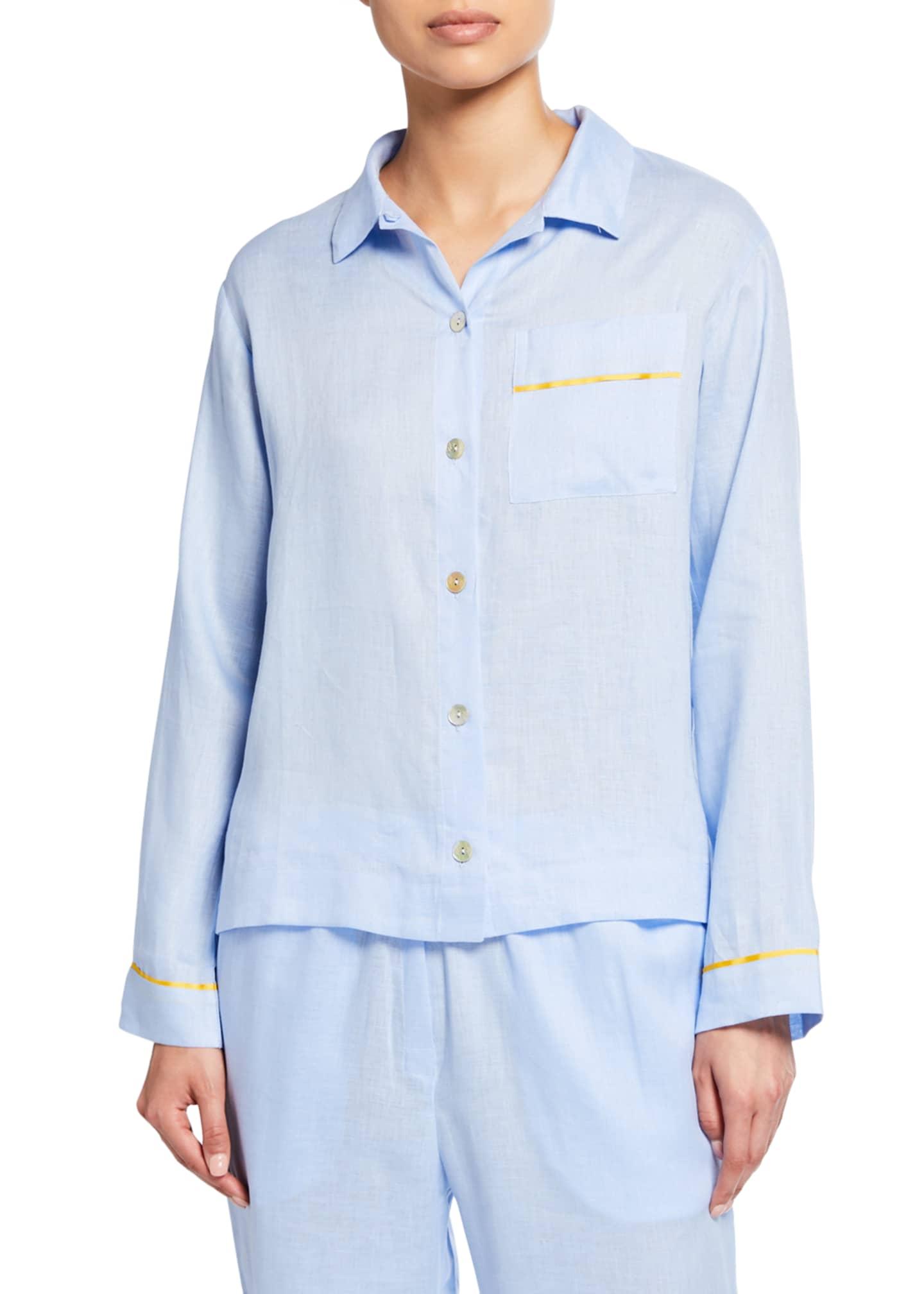 Hesper Fox Pepper Long-Sleeve Pajama Shirt