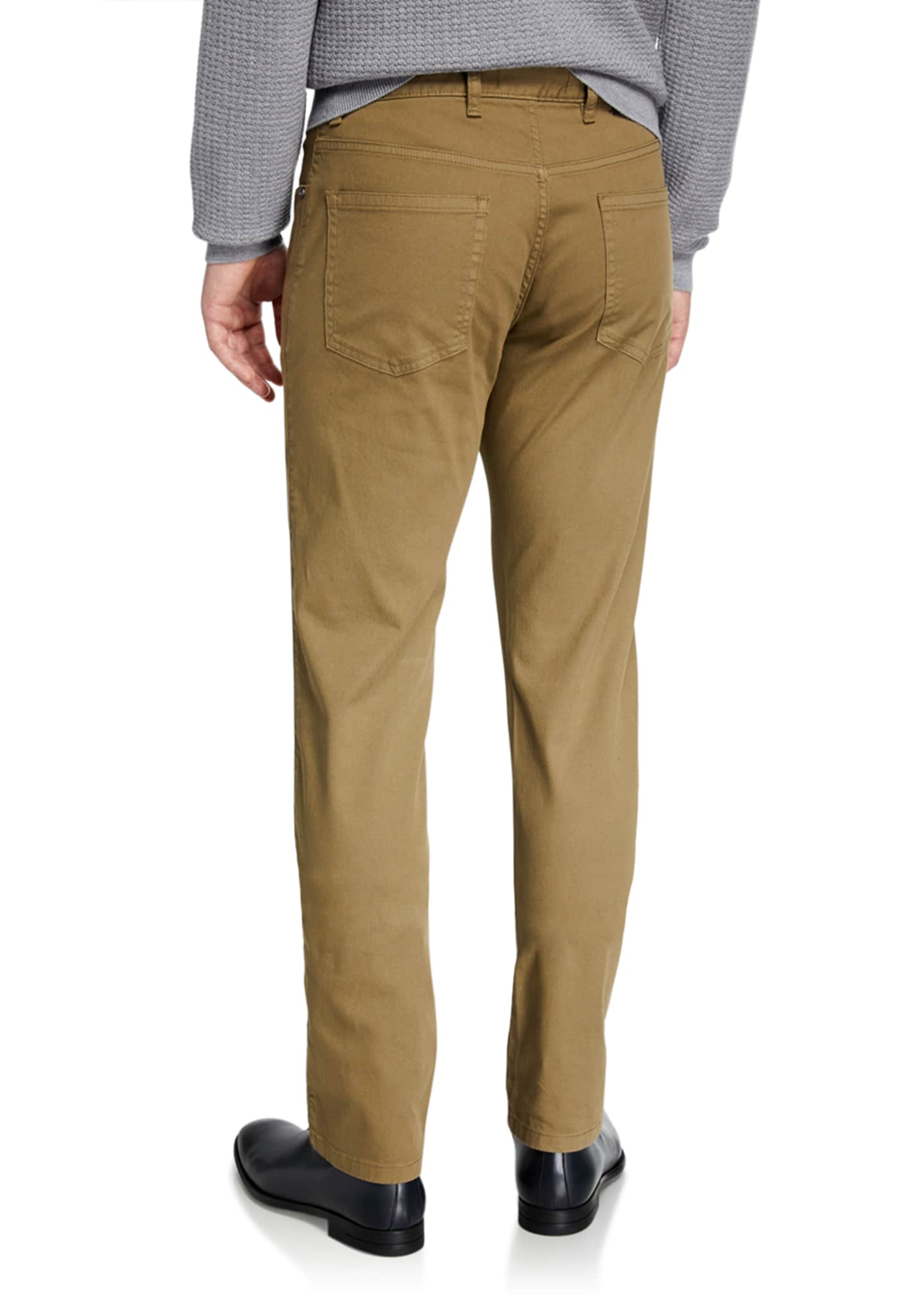 Image 2 of 3: Men's 5-Pocket Straight-Leg Canvas Regular-Fit Pants