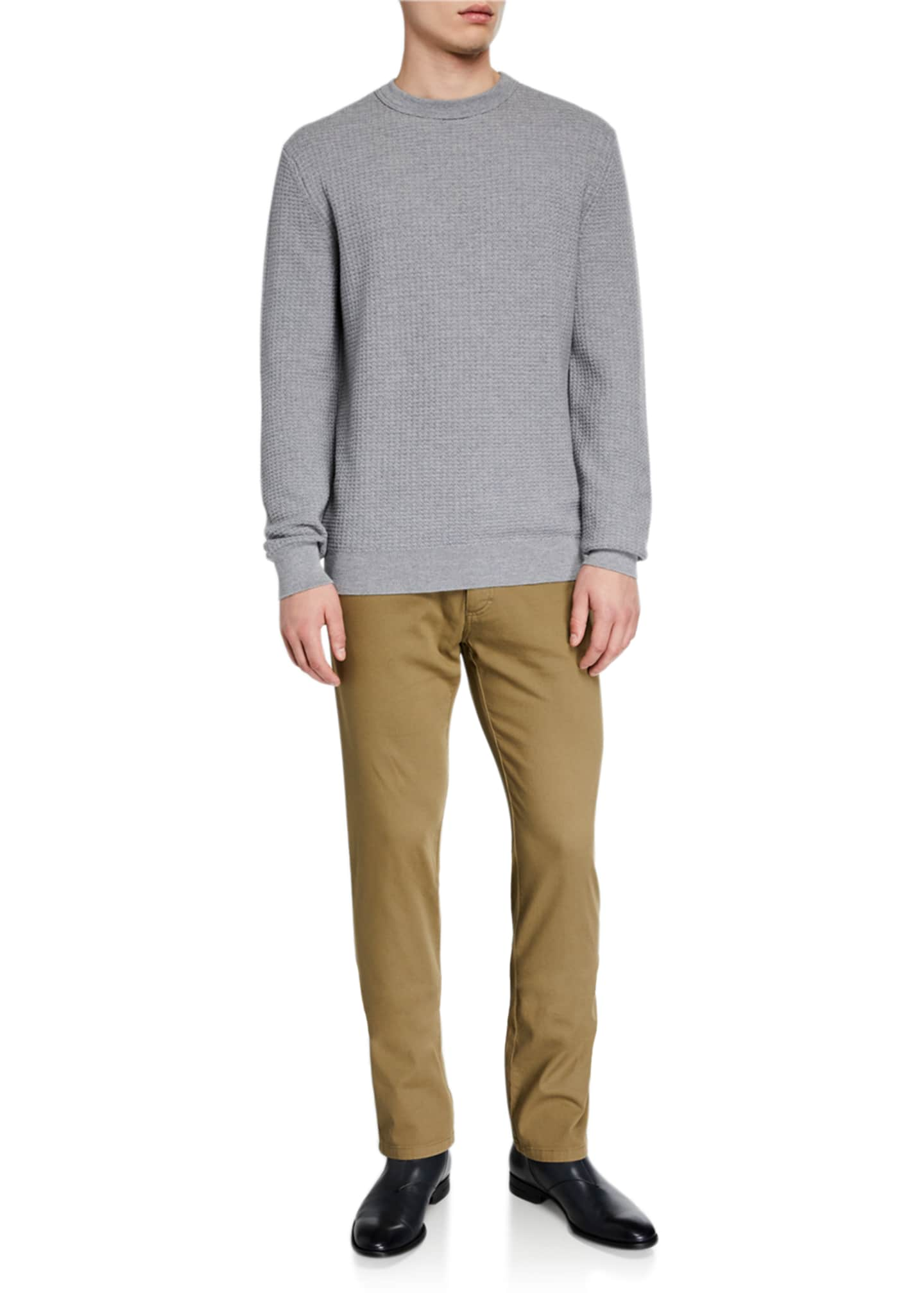 Image 3 of 3: Men's 5-Pocket Straight-Leg Canvas Regular-Fit Pants