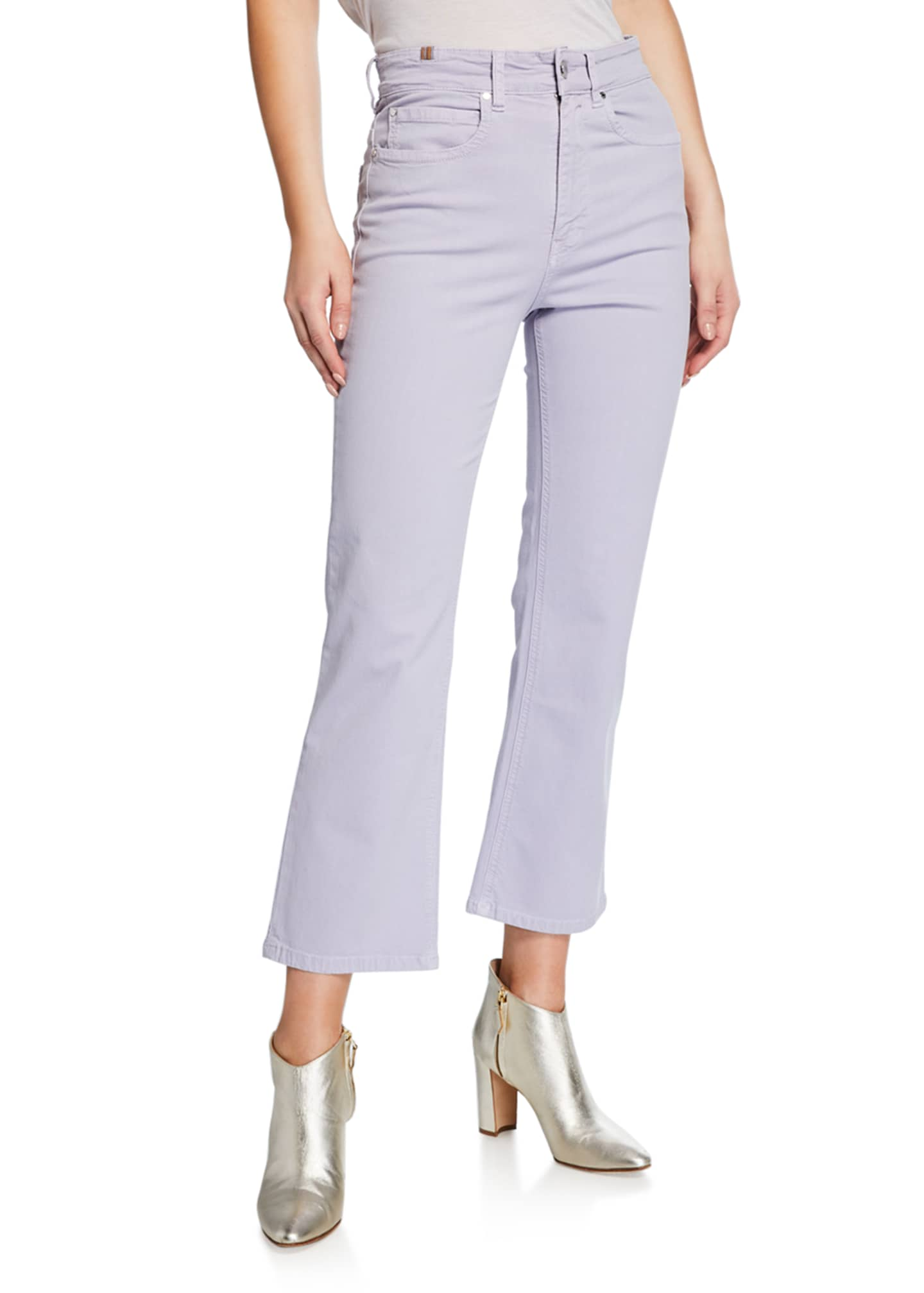 Atelier Notify High-Rise Capri Boot-Cut Jeans