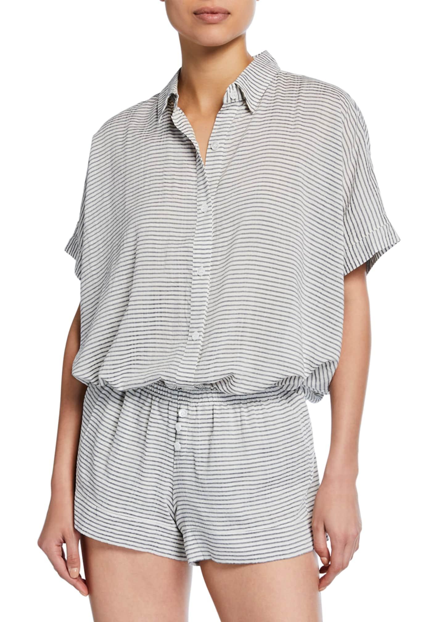 Eberjey Nautico Striped Shorty Pajama Set