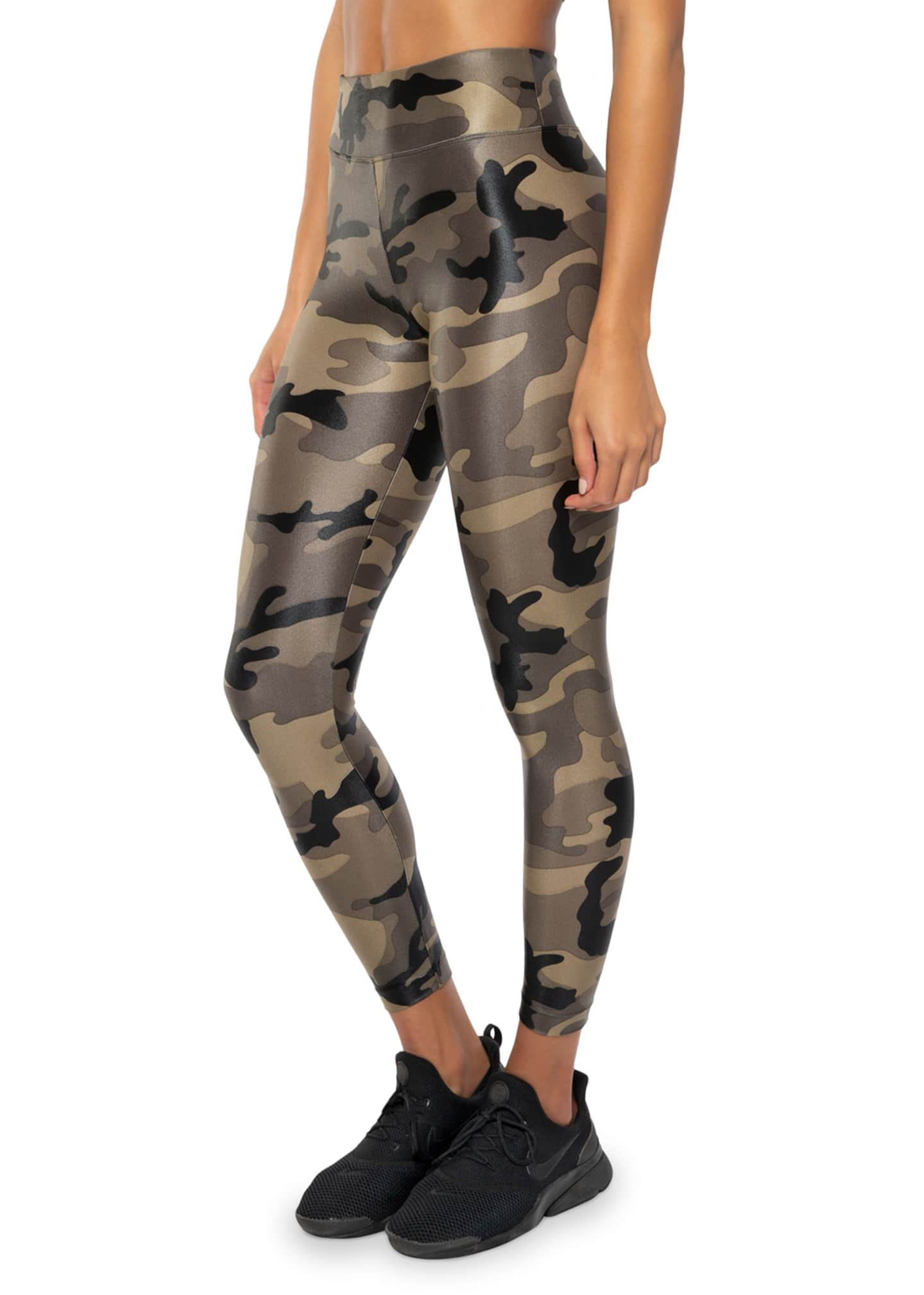 Image 2 of 3: Lustrous High-Rise Camo-Print Leggings