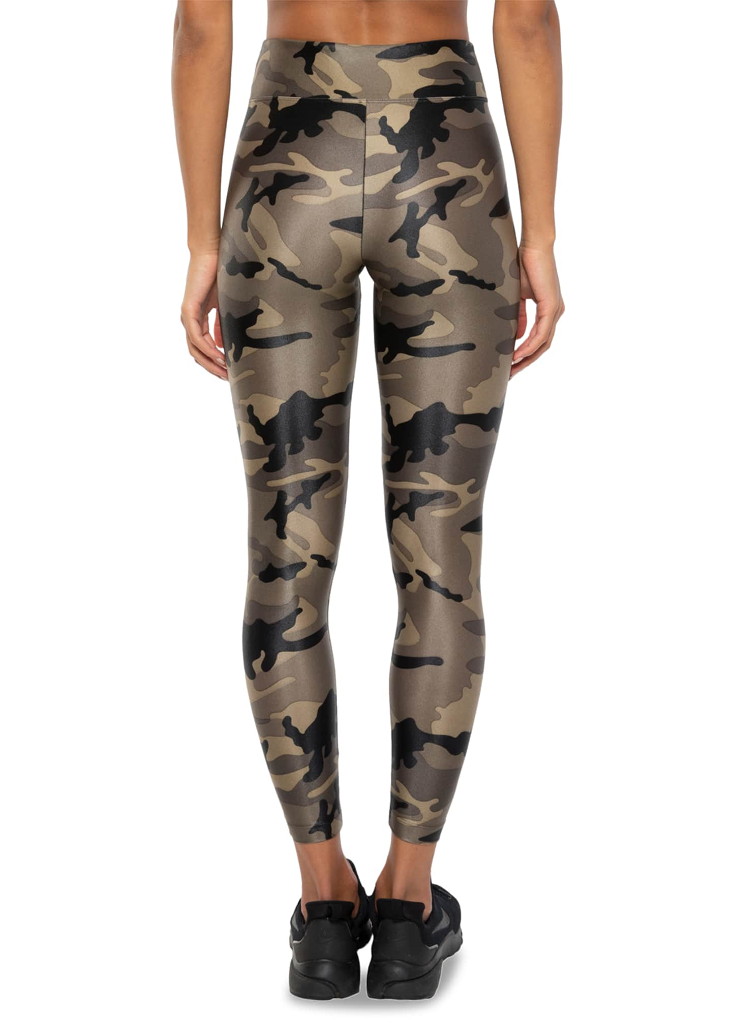 Image 3 of 3: Lustrous High-Rise Camo-Print Leggings