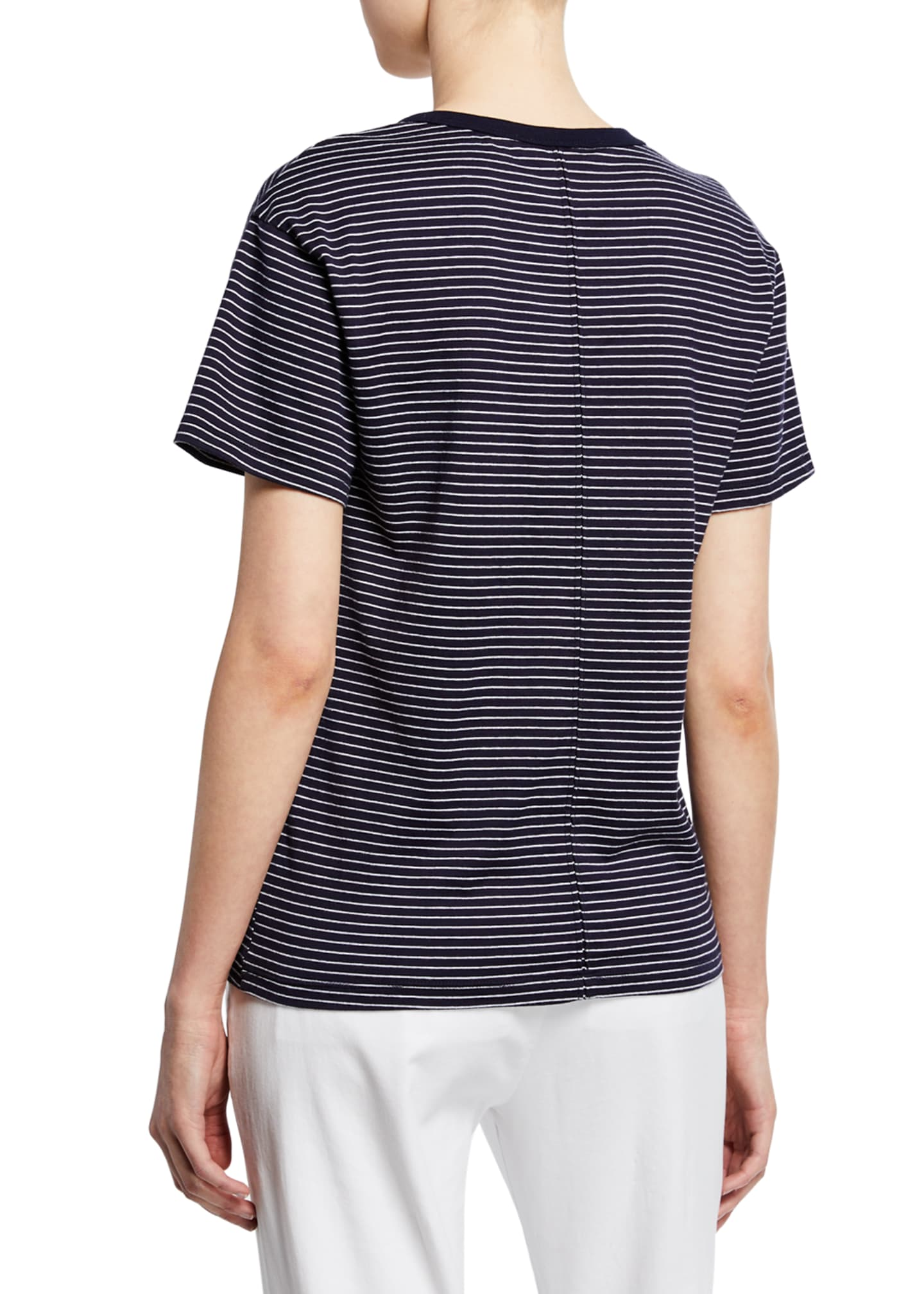 Image 2 of 2: Henson Striped Scoop-Neck Short-Sleeve T-Shirt