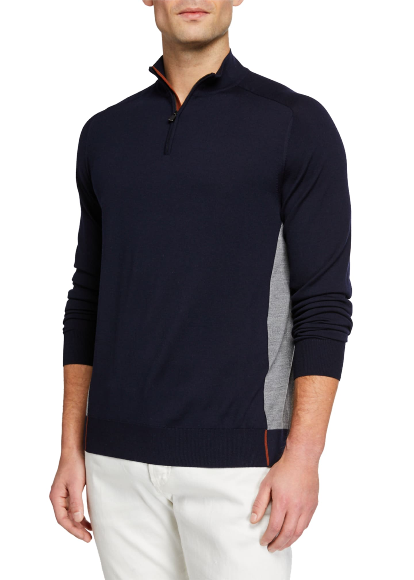 Loro Piana Men's Matches Athletic-Inspired Sweater
