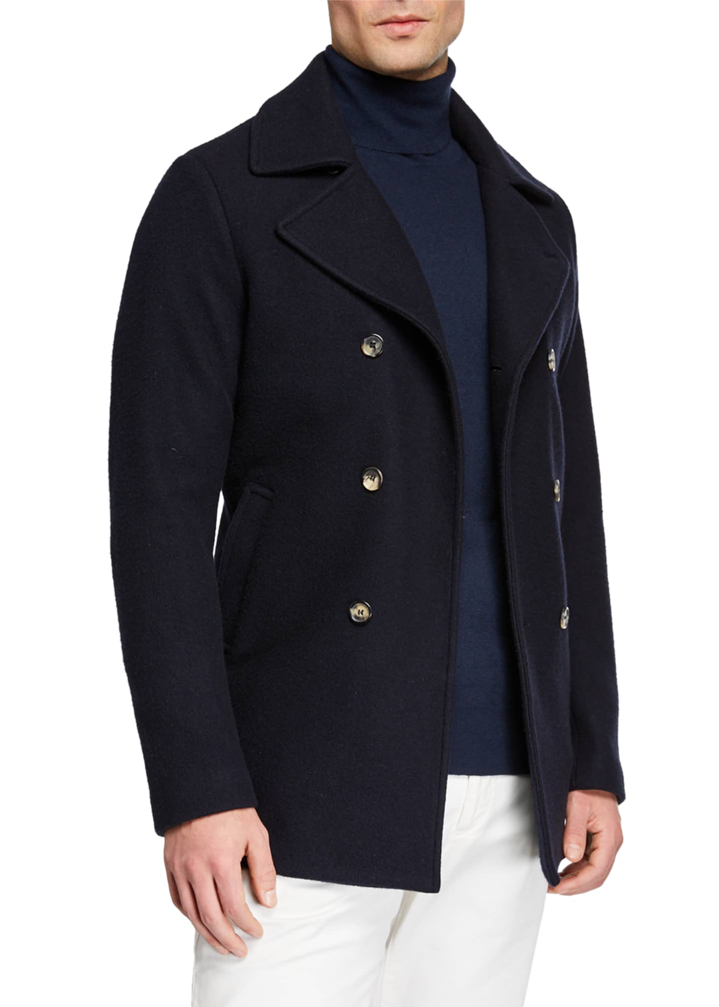 Loro Piana Men's Cashmere Pea Coat