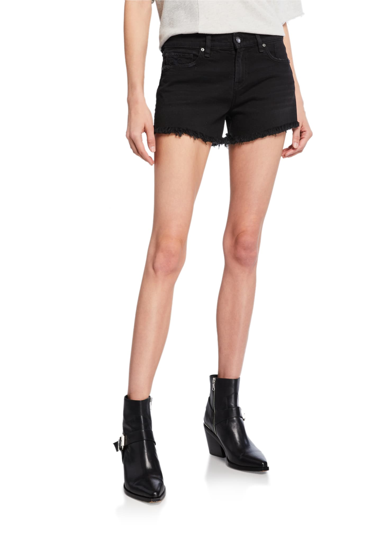 Hudson Gemma Mid-Rise Denim Cutoff Shorts