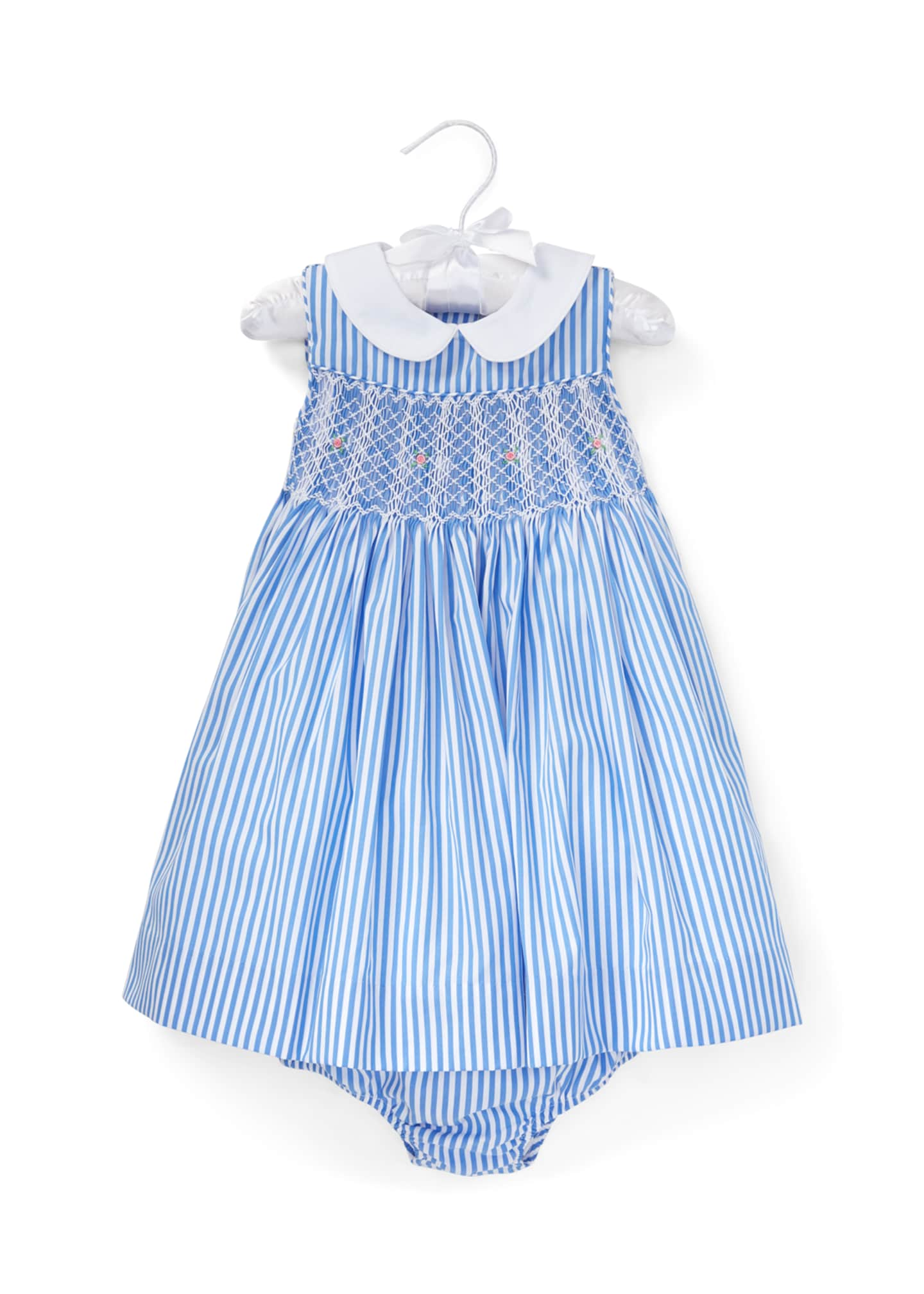 Ralph Lauren Childrenswear Smocked Bengal Stripe Woven Dress