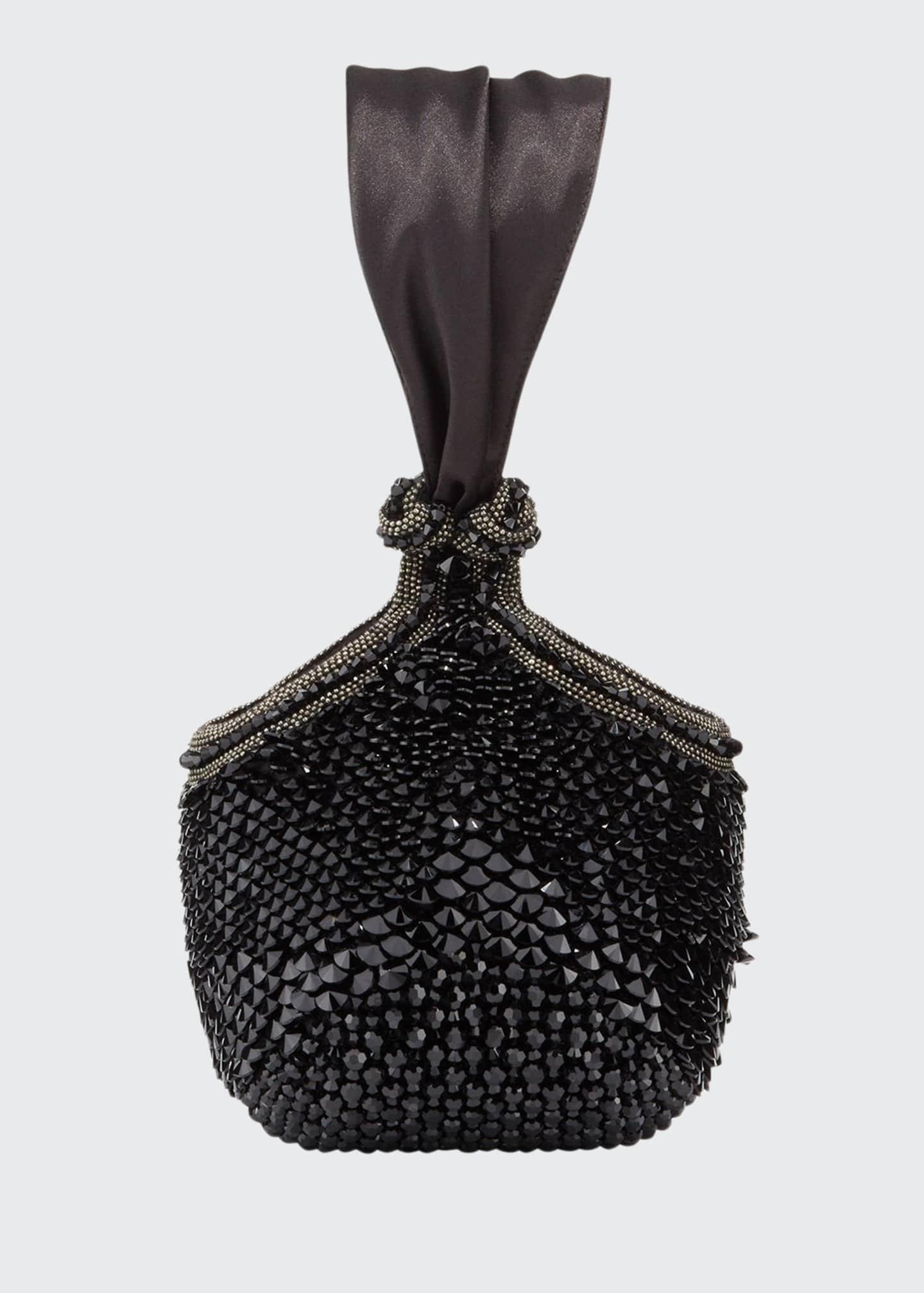 Bea Valdes Bella Jeweled Satin Clutch Bag