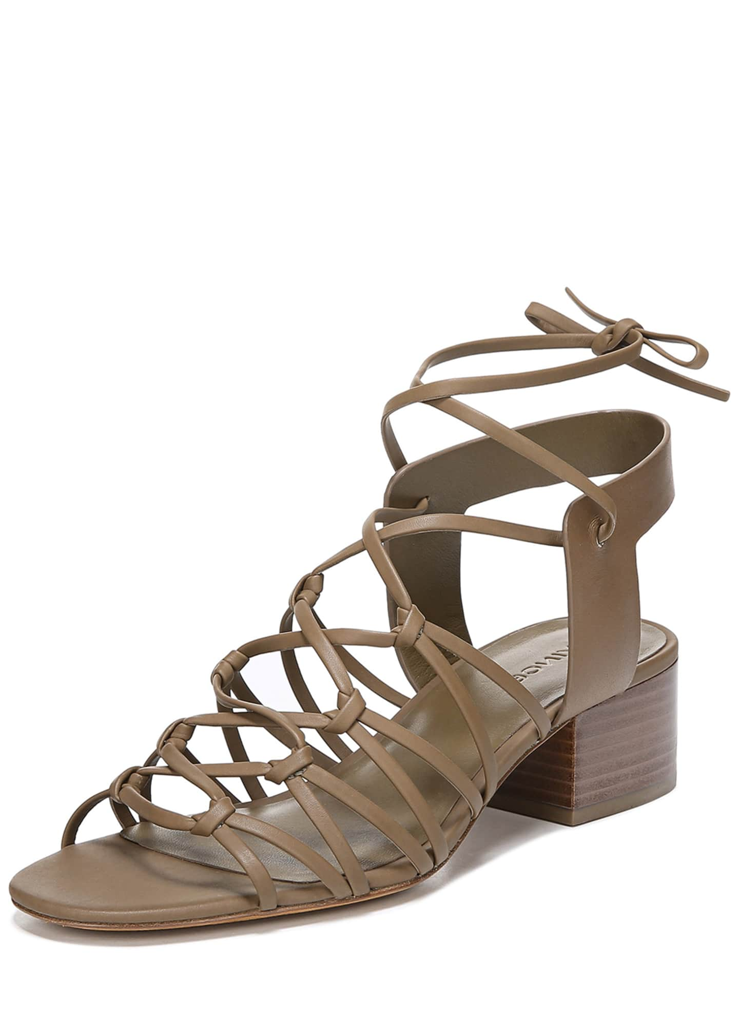 Vince Beaumont Knotted Leather Gladiator Sandals