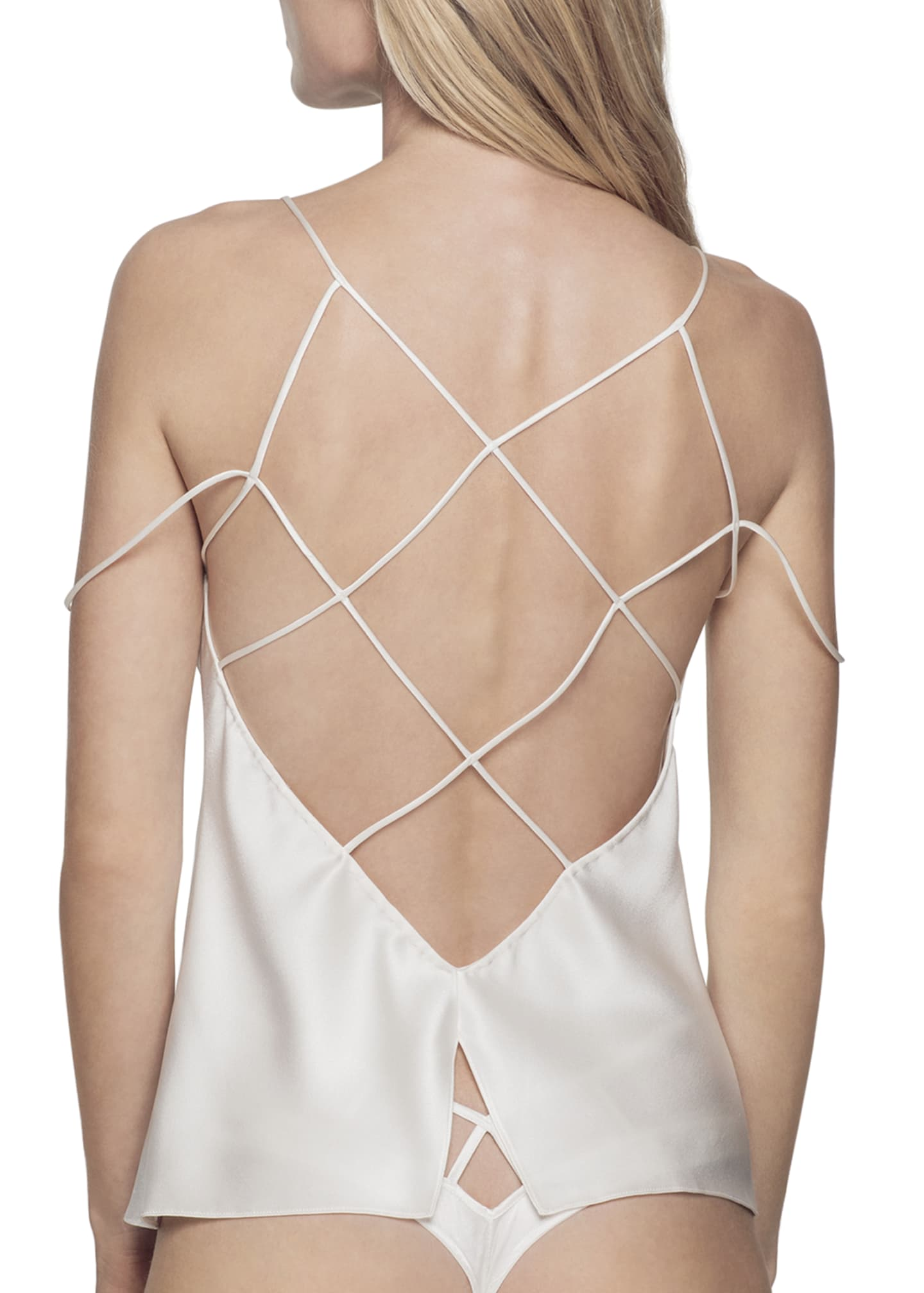 Image 2 of 2: Cage Silk Camisole