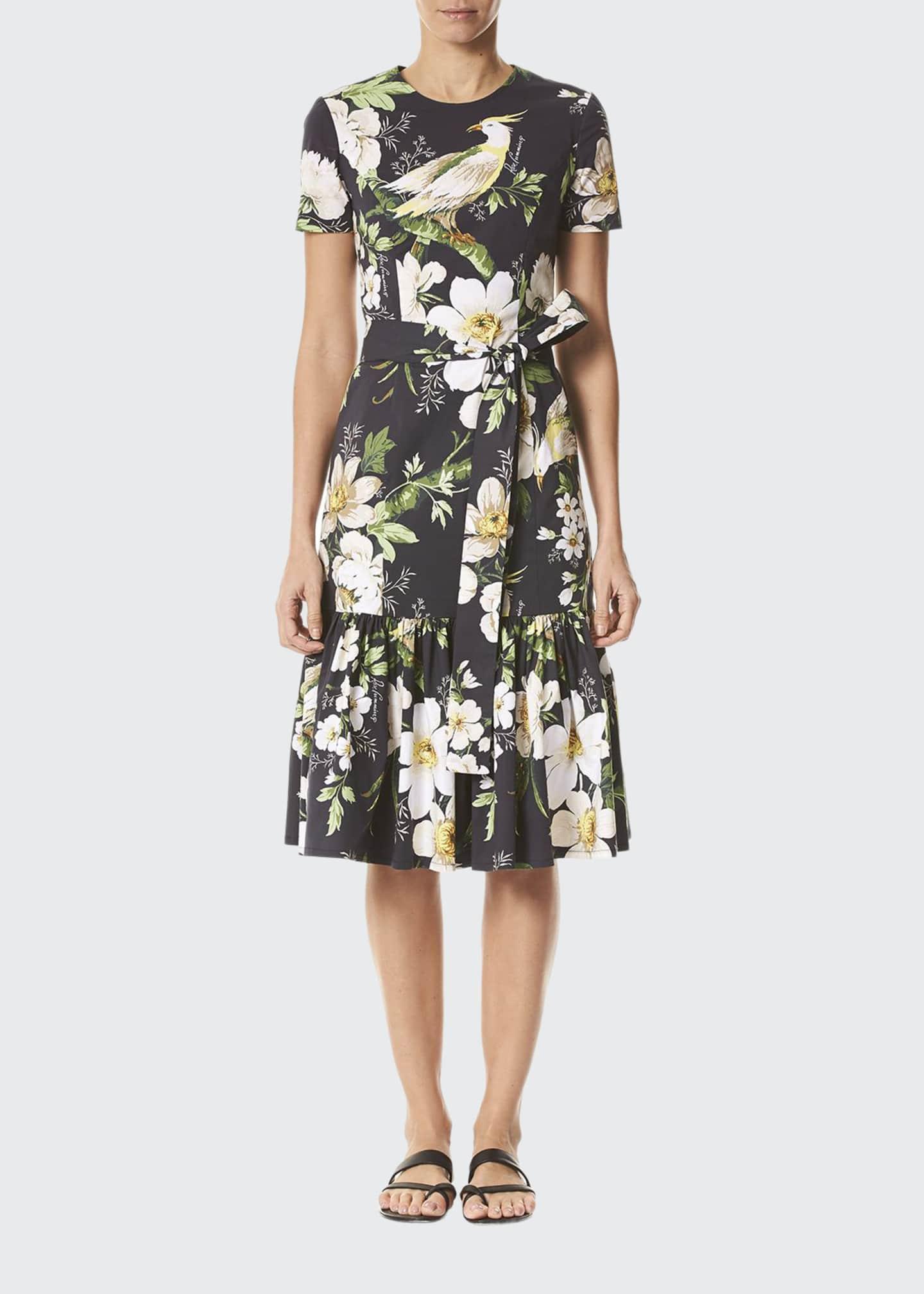 Carolina Herrera Midnight Floral Short Sleeve