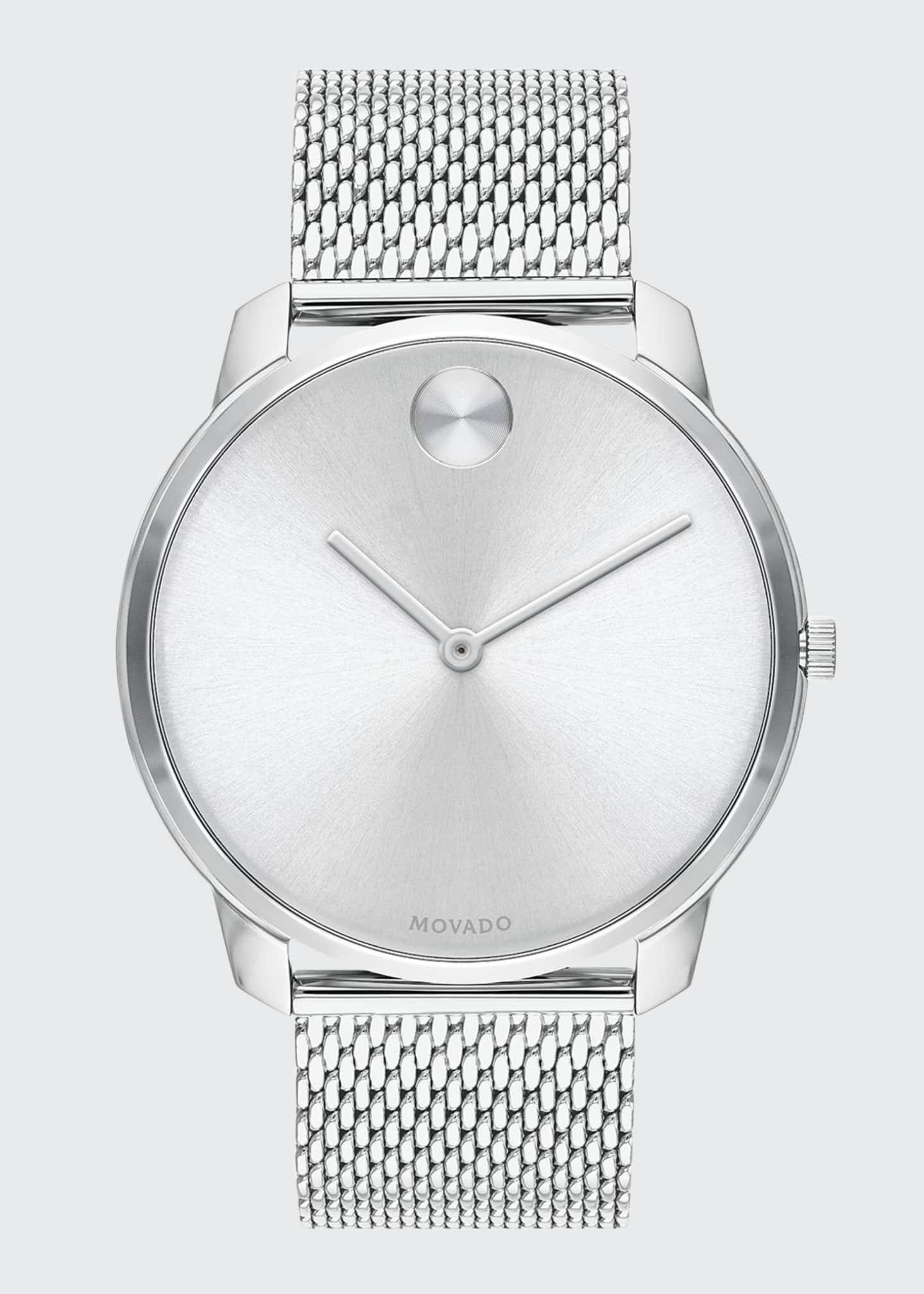 Movado Bold Men's Bold Thin Mesh-Bracelet Watch, Silver