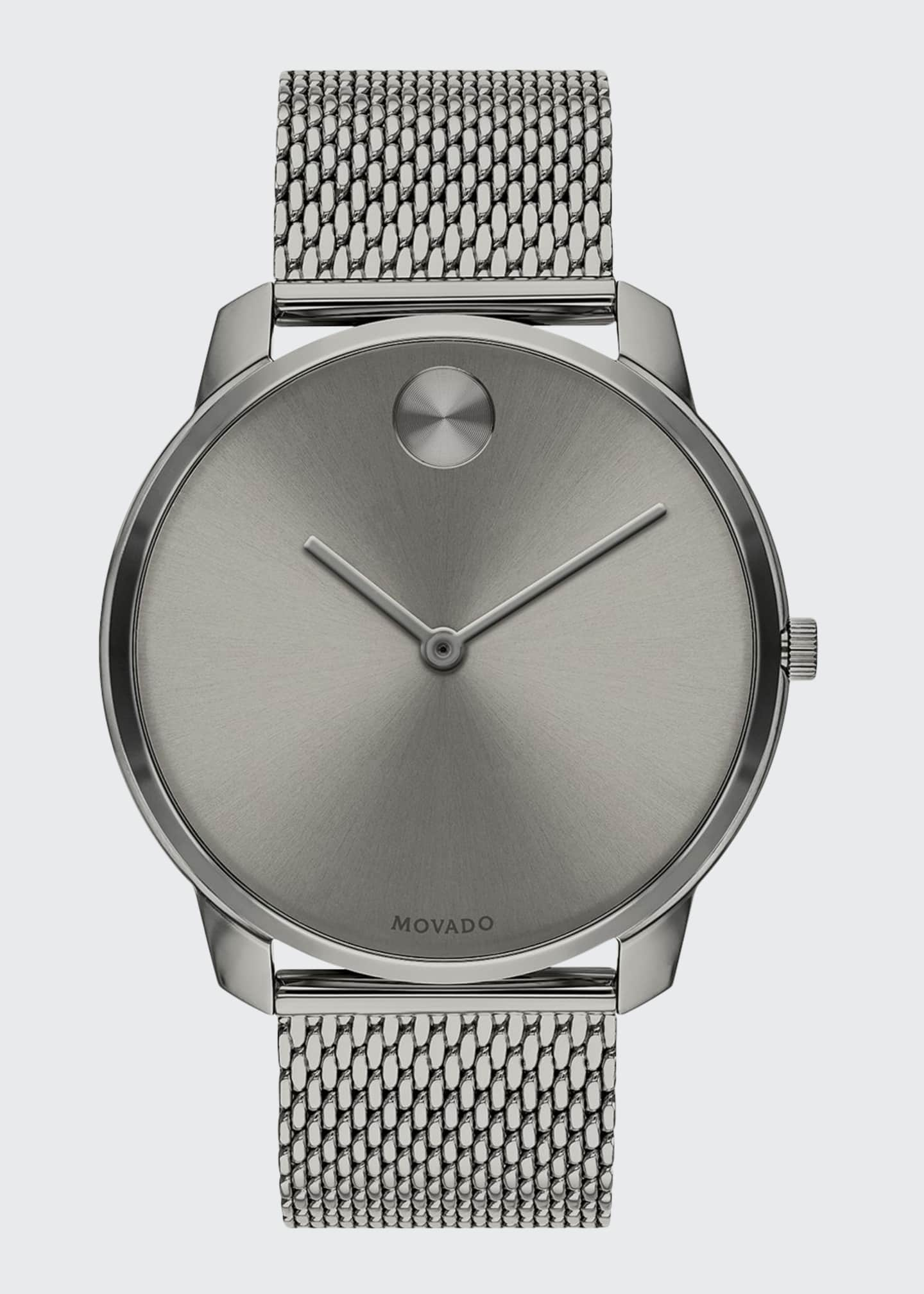 Movado Bold Men's Bold Thin Mesh-Bracelet Watch, Gray