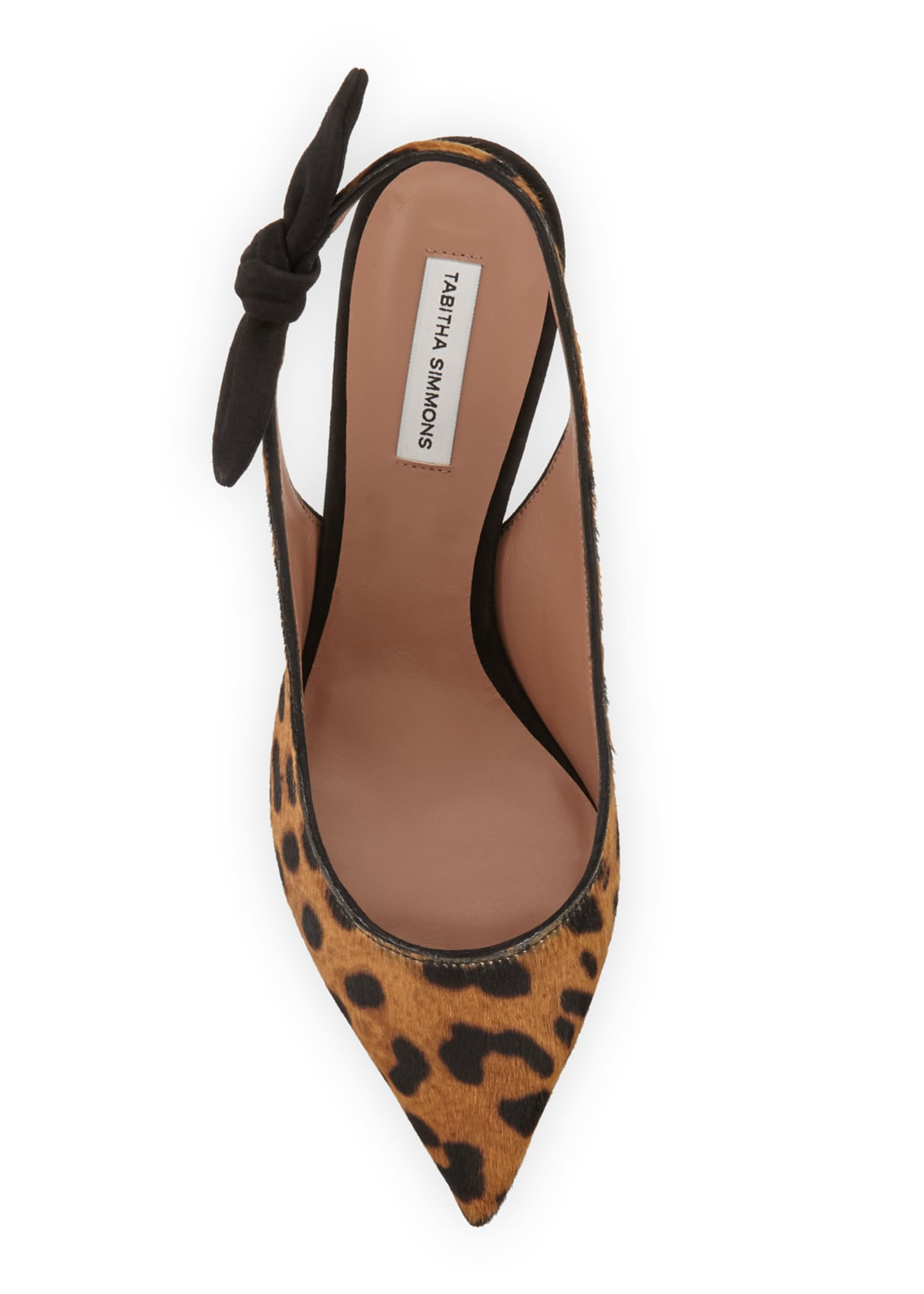 Image 3 of 3: Millie Leopard Calf Hair Slingback Pumps