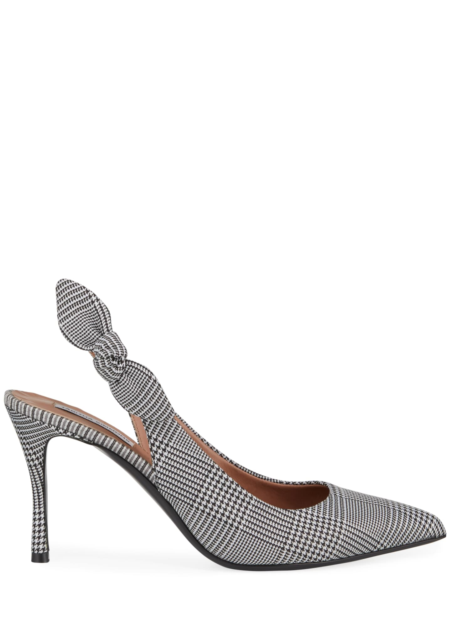Image 2 of 3: Millie Houndstooth Slingback Bow Pumps