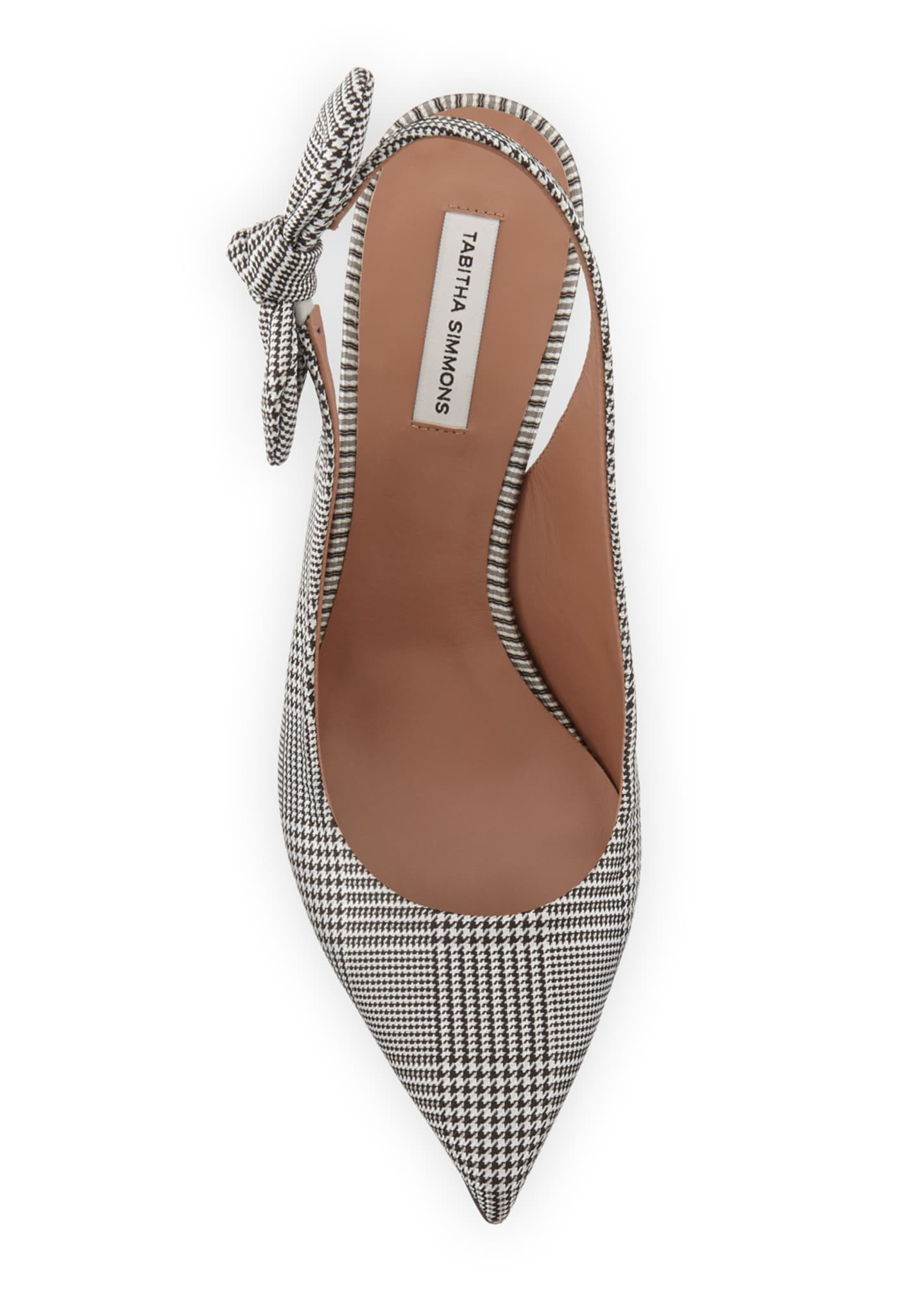 Image 3 of 3: Millie Houndstooth Slingback Bow Pumps