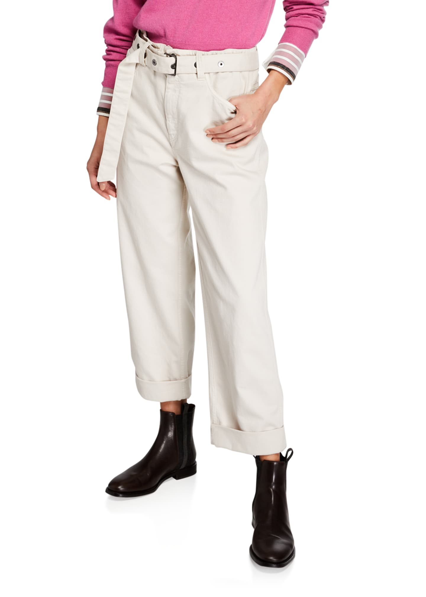 Brunello Cucinelli Garment-Dyed Cuffed Jeans