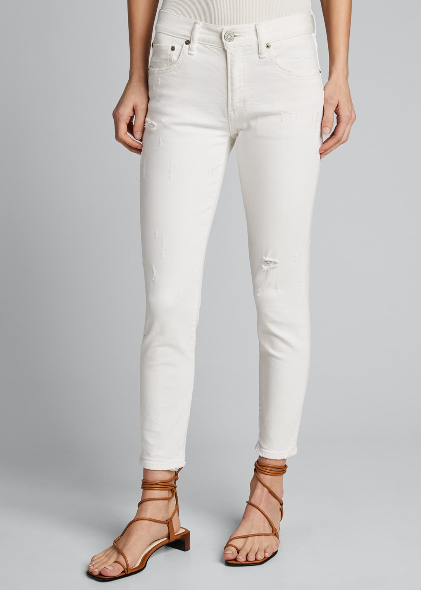 Image 3 of 5: Velma Cropped Mid-Rise Skinny Jeans