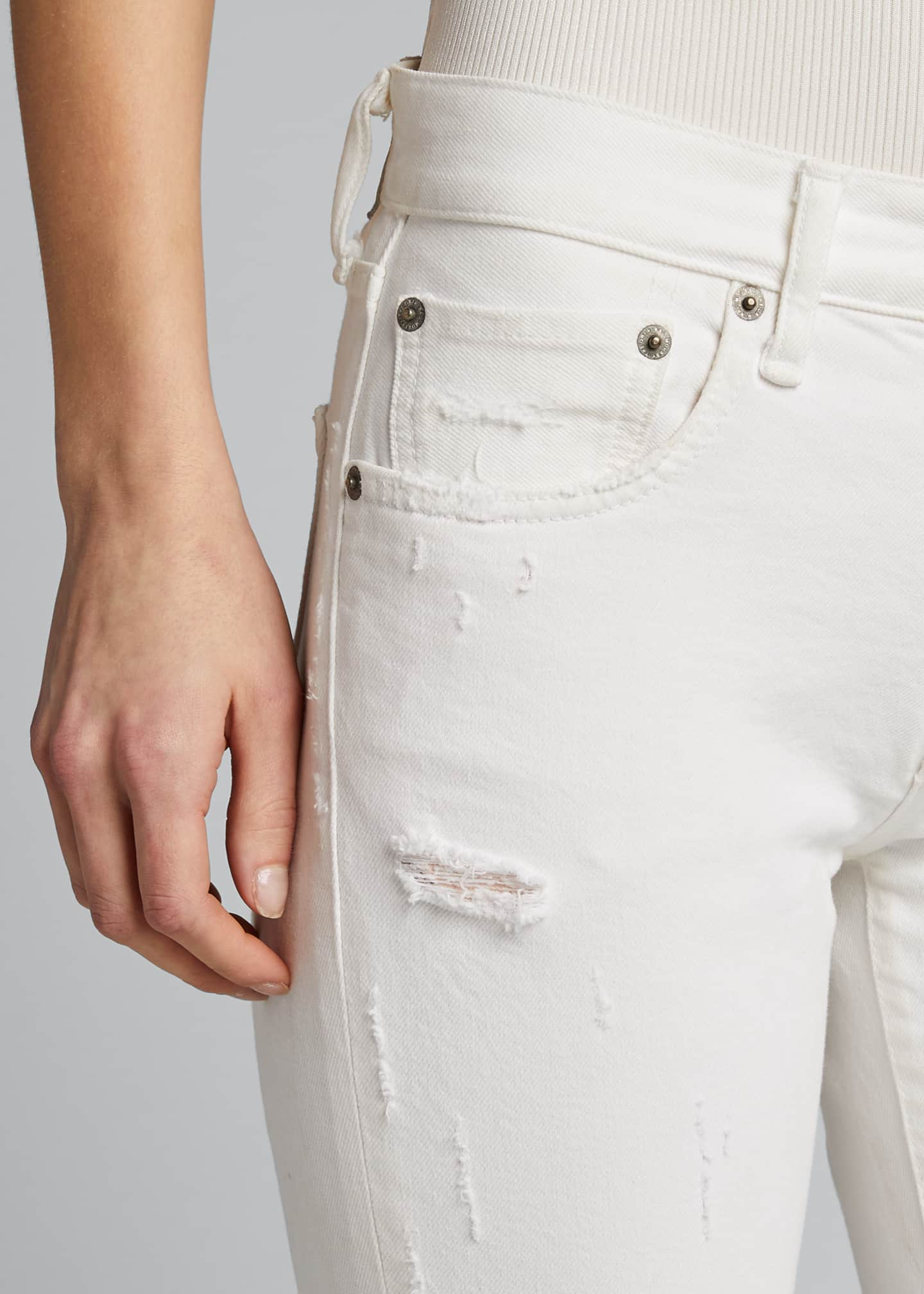 Image 4 of 5: Velma Cropped Mid-Rise Skinny Jeans