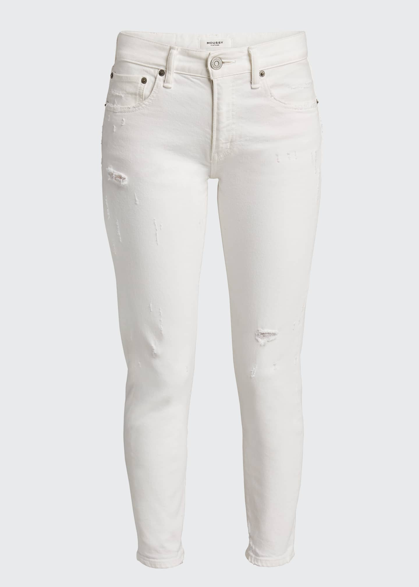 Image 5 of 5: Velma Cropped Mid-Rise Skinny Jeans