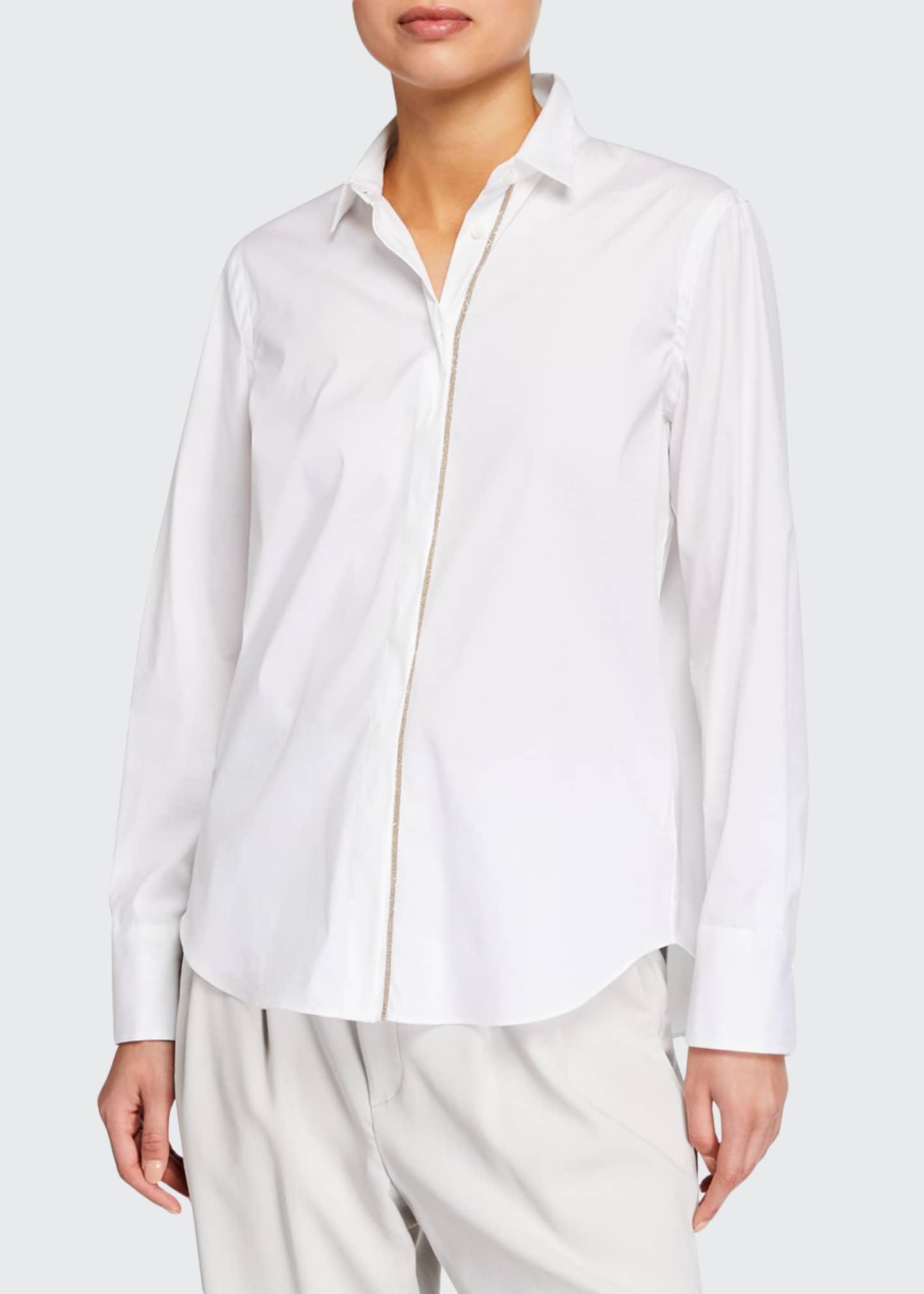 Brunello Cucinelli Monili-Placket Regular-Fit Poplin Shirt
