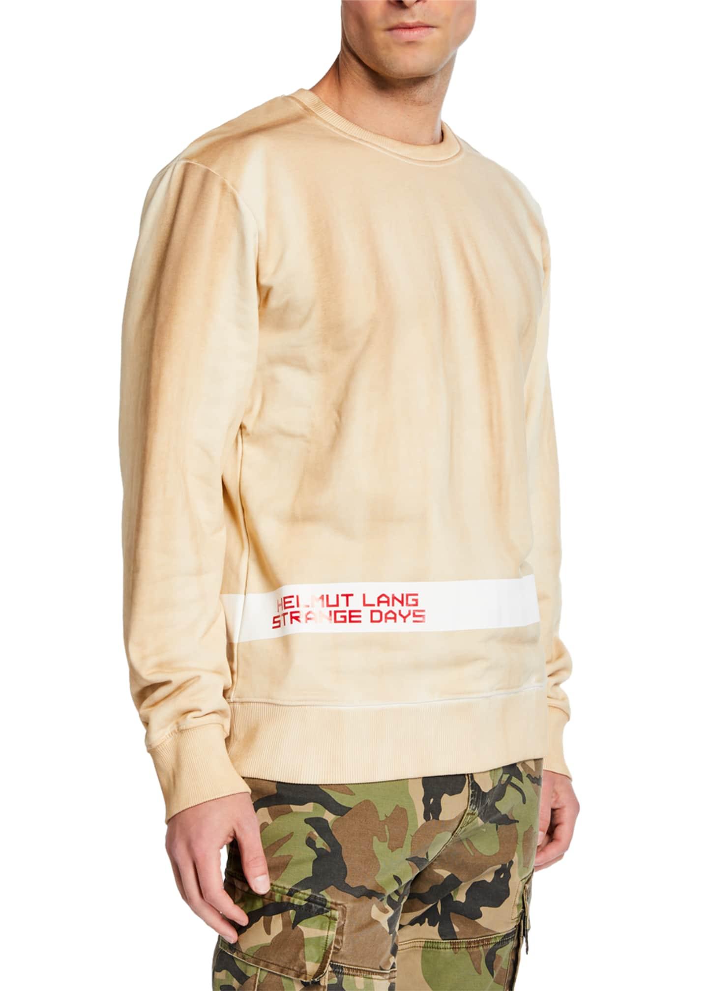 Helmut Lang Men's Strange Day Logo Stripe Sweatshirt